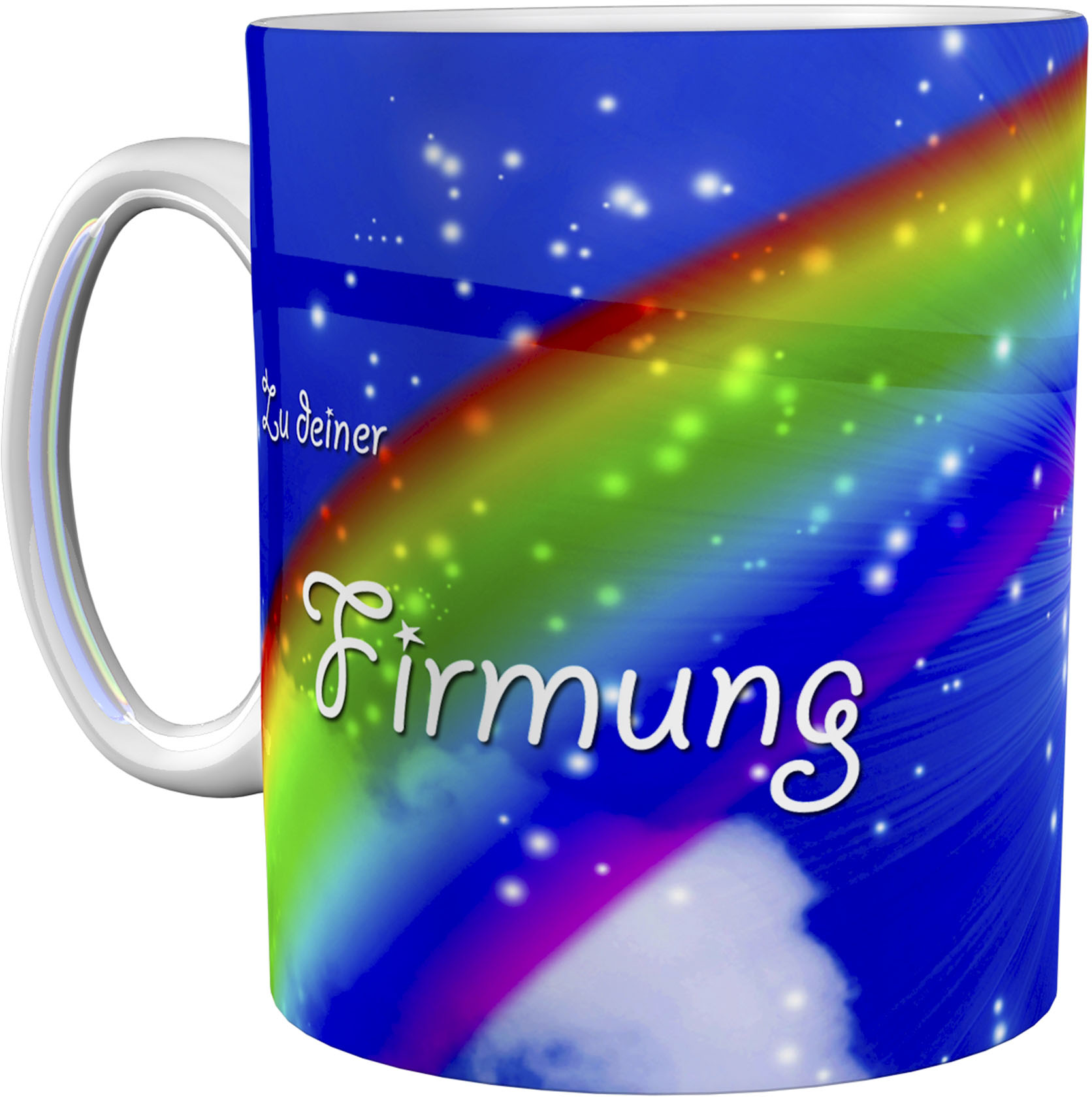 Kaffeetasse / Kaffeebecher / Regenbogen / Firmung