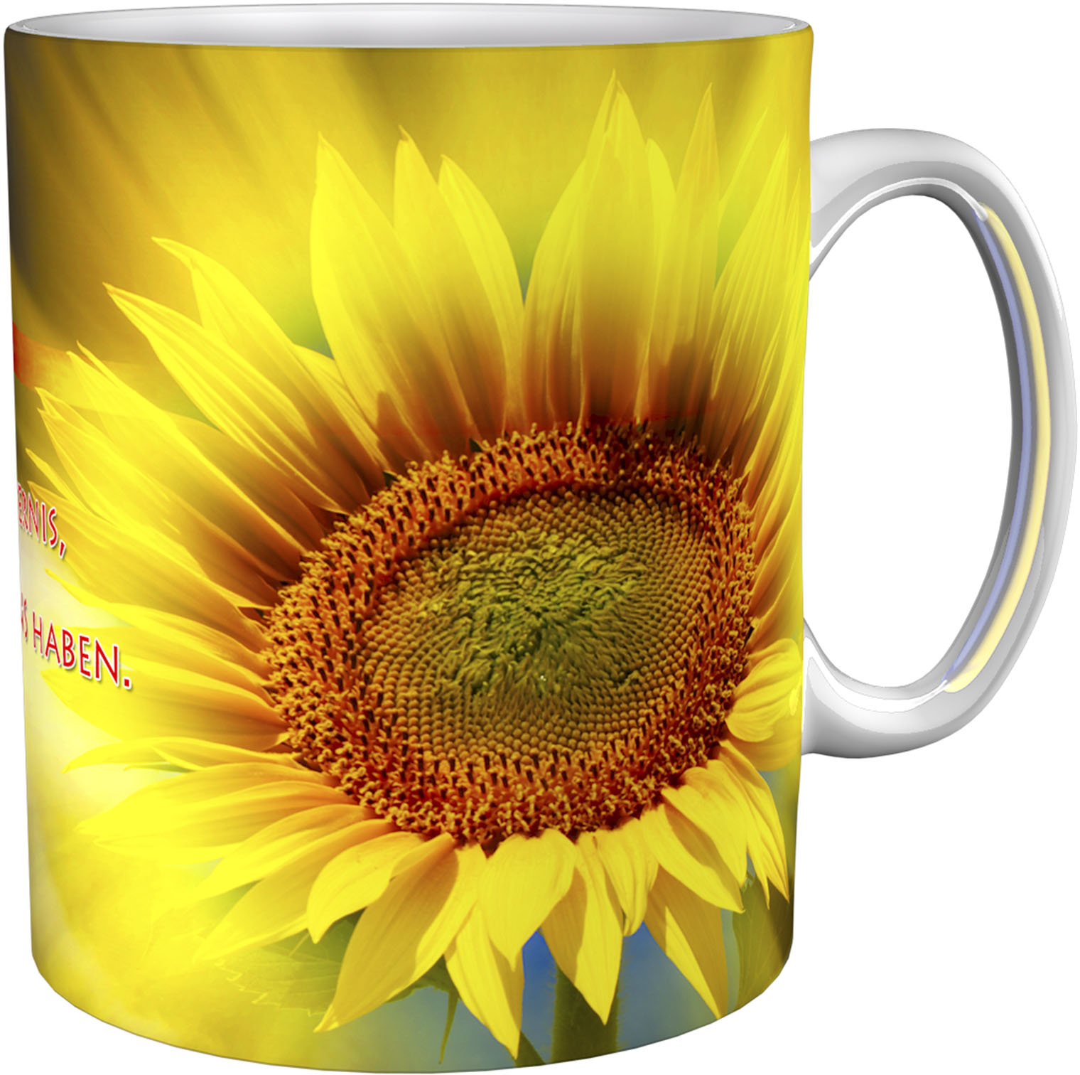Kaffeetasse / Kaffeebecher / Sonnenblume / Christlich