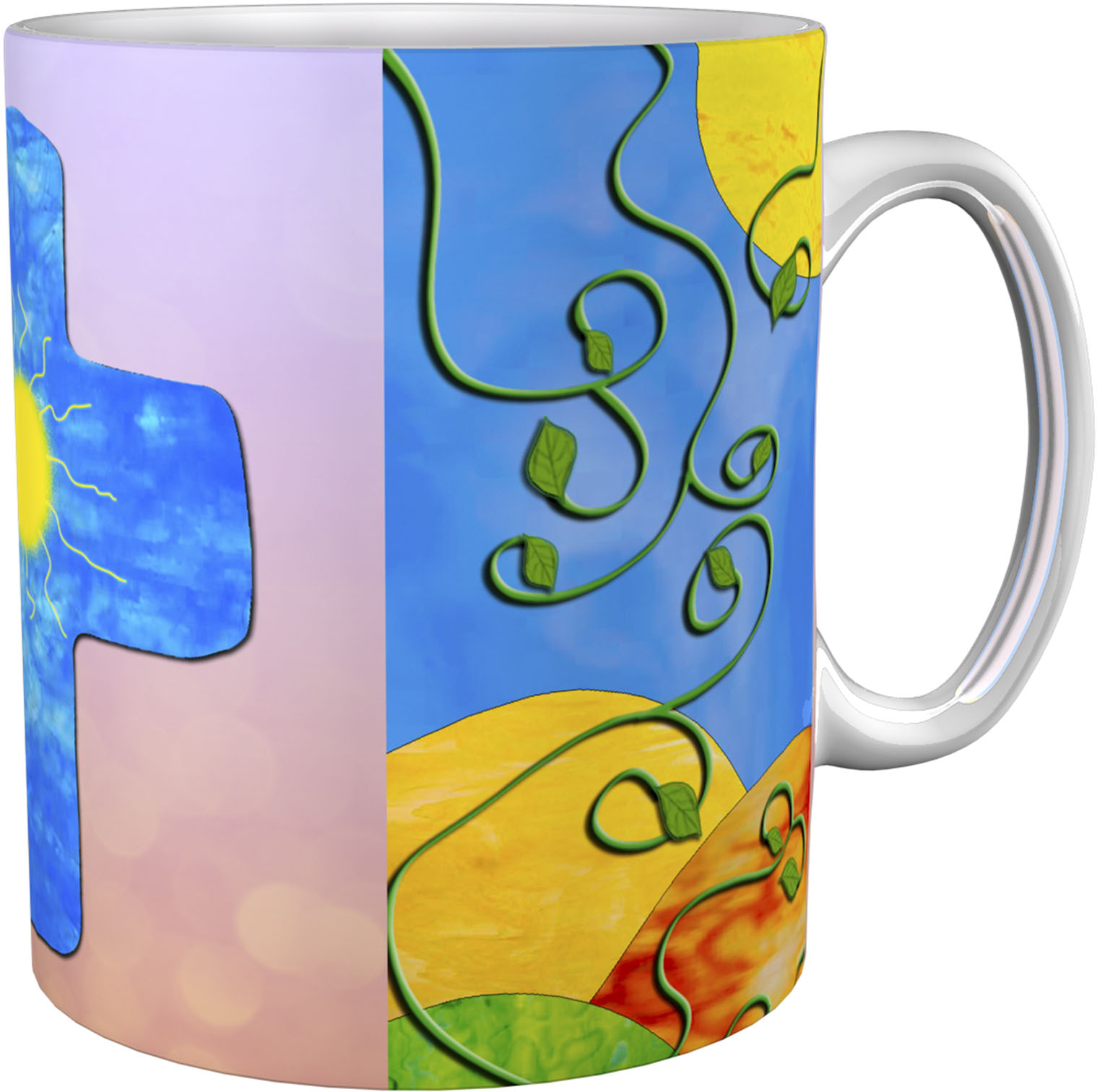 Kaffeetasse / Kaffeebecher / Kreuz / Sonne / Christlich