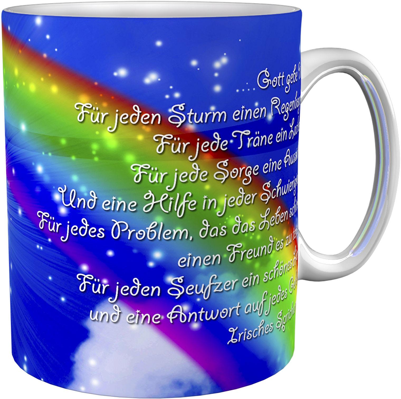 Kaffeetasse / Kaffeebecher / Regenbogen / Konfirmation