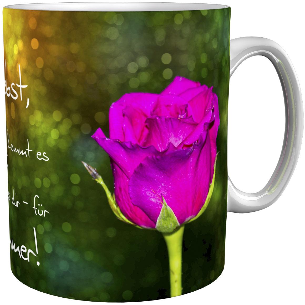 Kaffeetasse / Kaffeebecher / Rosen / Geschenktasse