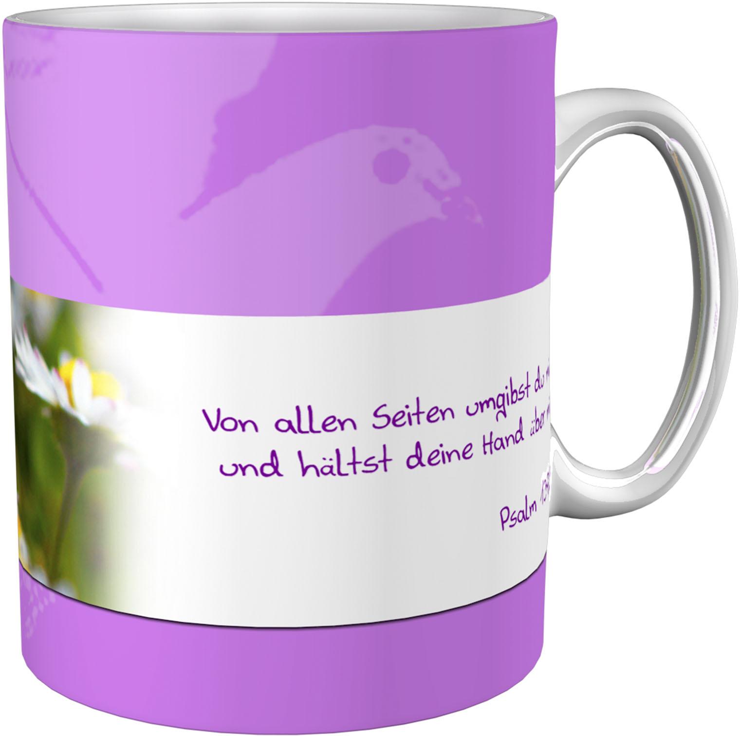 Kaffeetasse / Kaffeebecher / Margeriten / Kommunion