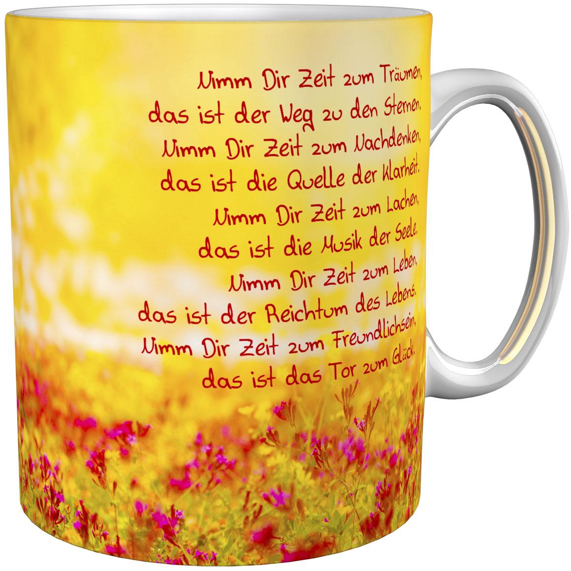 Kaffeetasse / Kaffeebecher / Landschaft / Blumen / Geschenktasse
