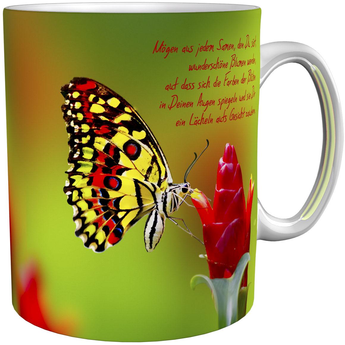 Kaffeetasse / Kaffeebecher / Schmetterlinge / Geschenktasse