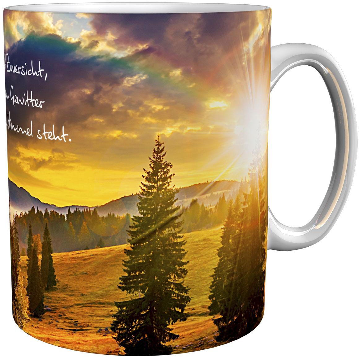 Kaffeetasse / Kaffeebecher / Landschaft / Regenbogen / Geschenktasse