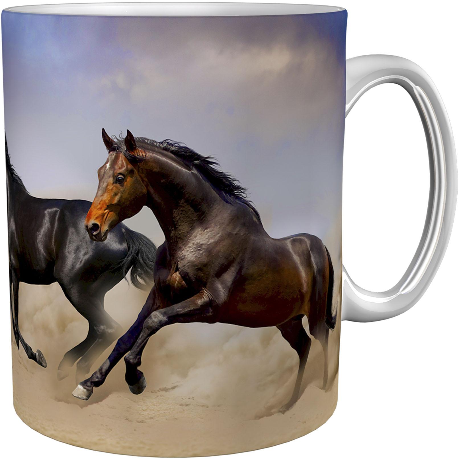 Kaffeetasse / Kaffeebecher / Pferde / Geschenktasse