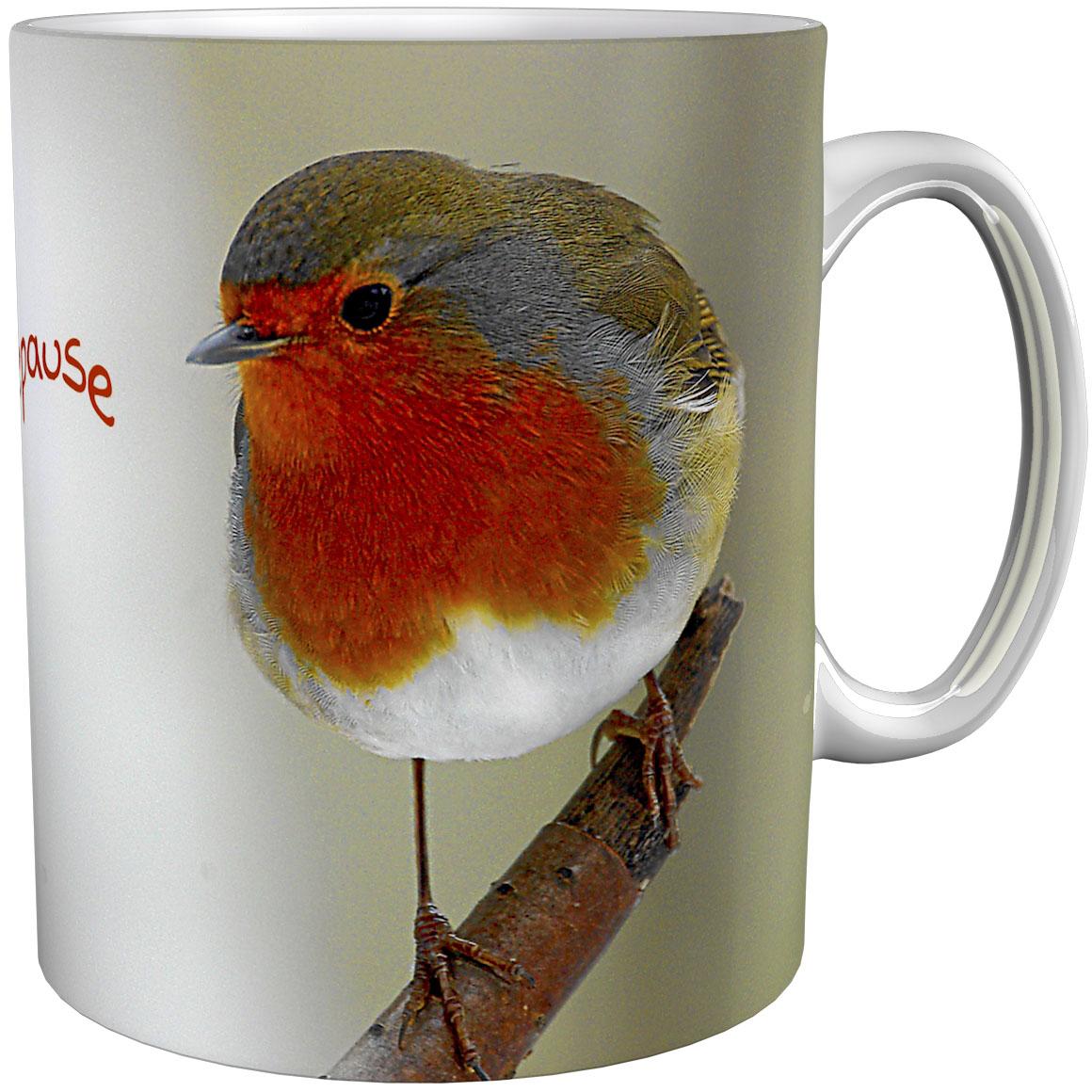 Kaffeetasse / Kaffeebecher / Rotkehlchen / Geschenktasse