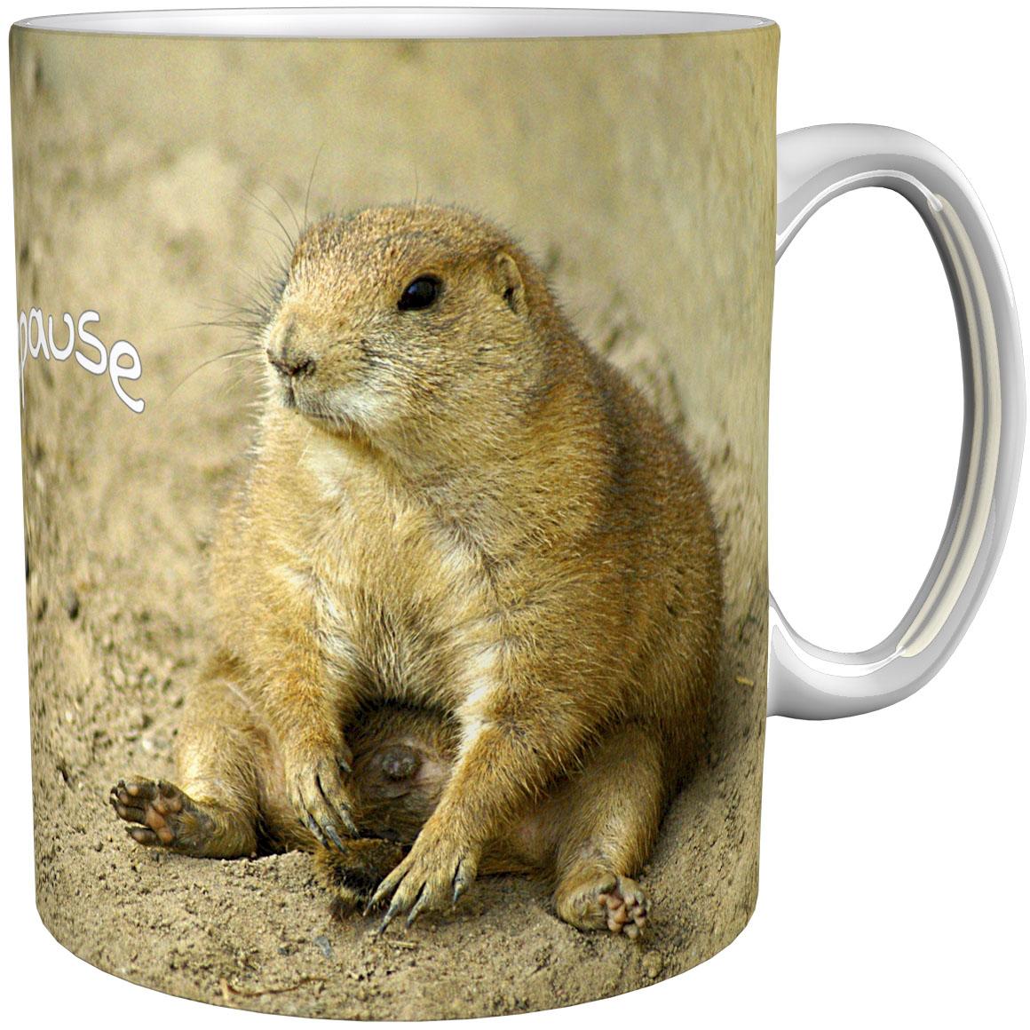 Kaffeetasse / Kaffeebecher / Murmeltier / Erdhörnchen / Geschenktasse