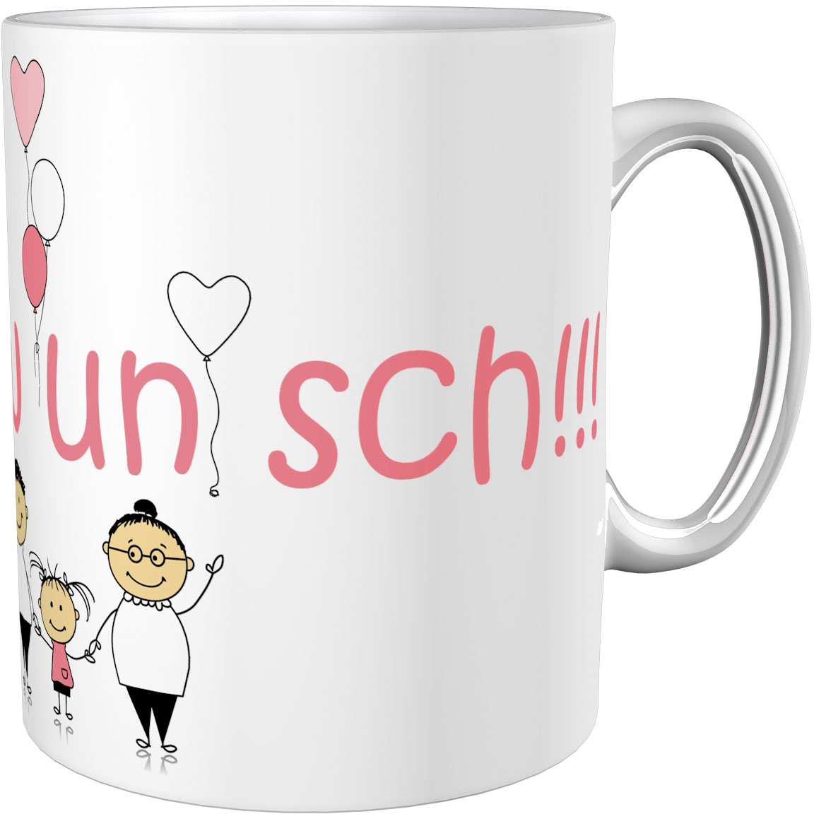 Kaffeetasse / Kaffeebecher / Fröhliche Karrikatur / Geschenktasse