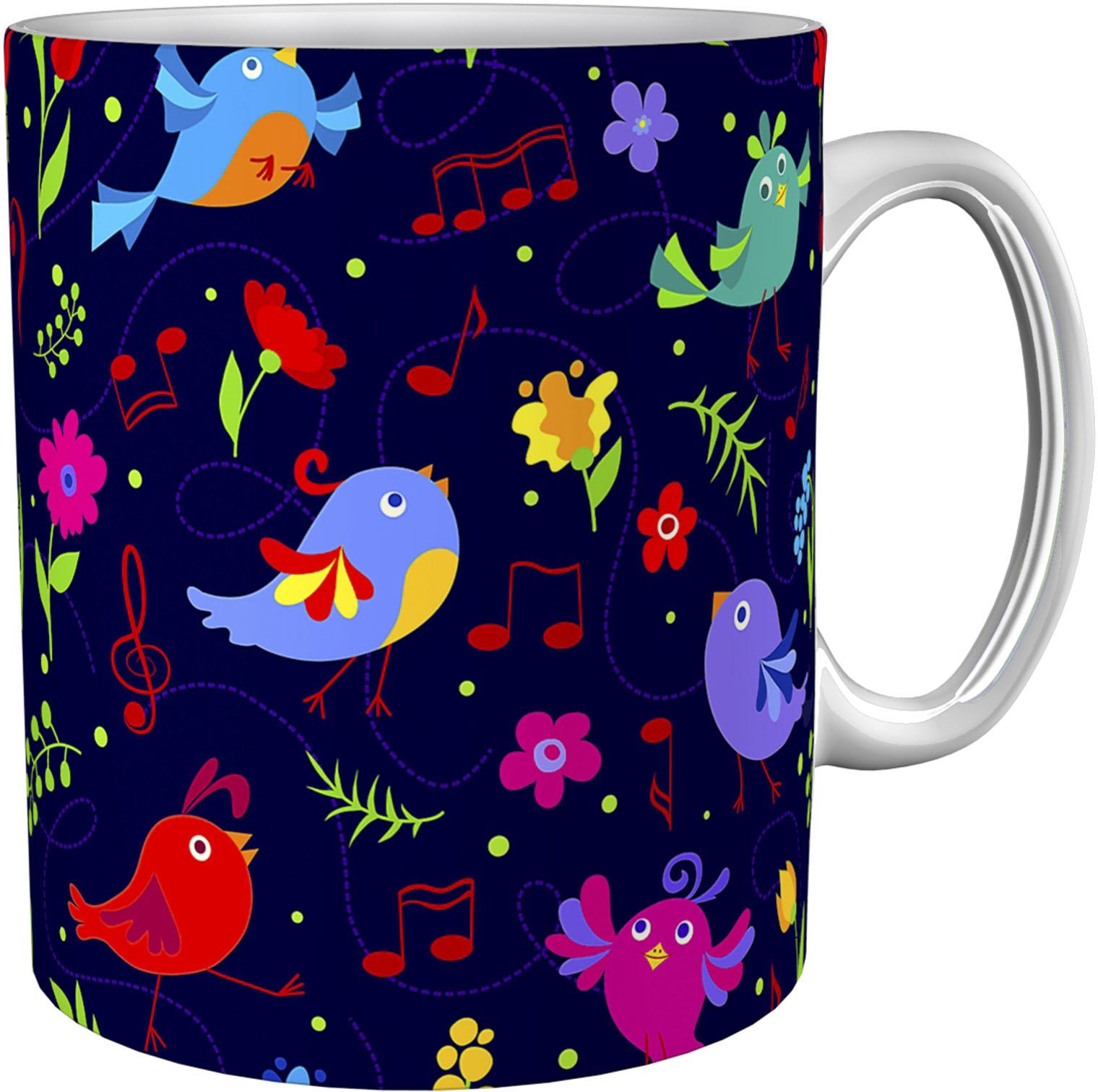 Kaffeetasse / Kaffeebecher / Vögel / Geschenktasse