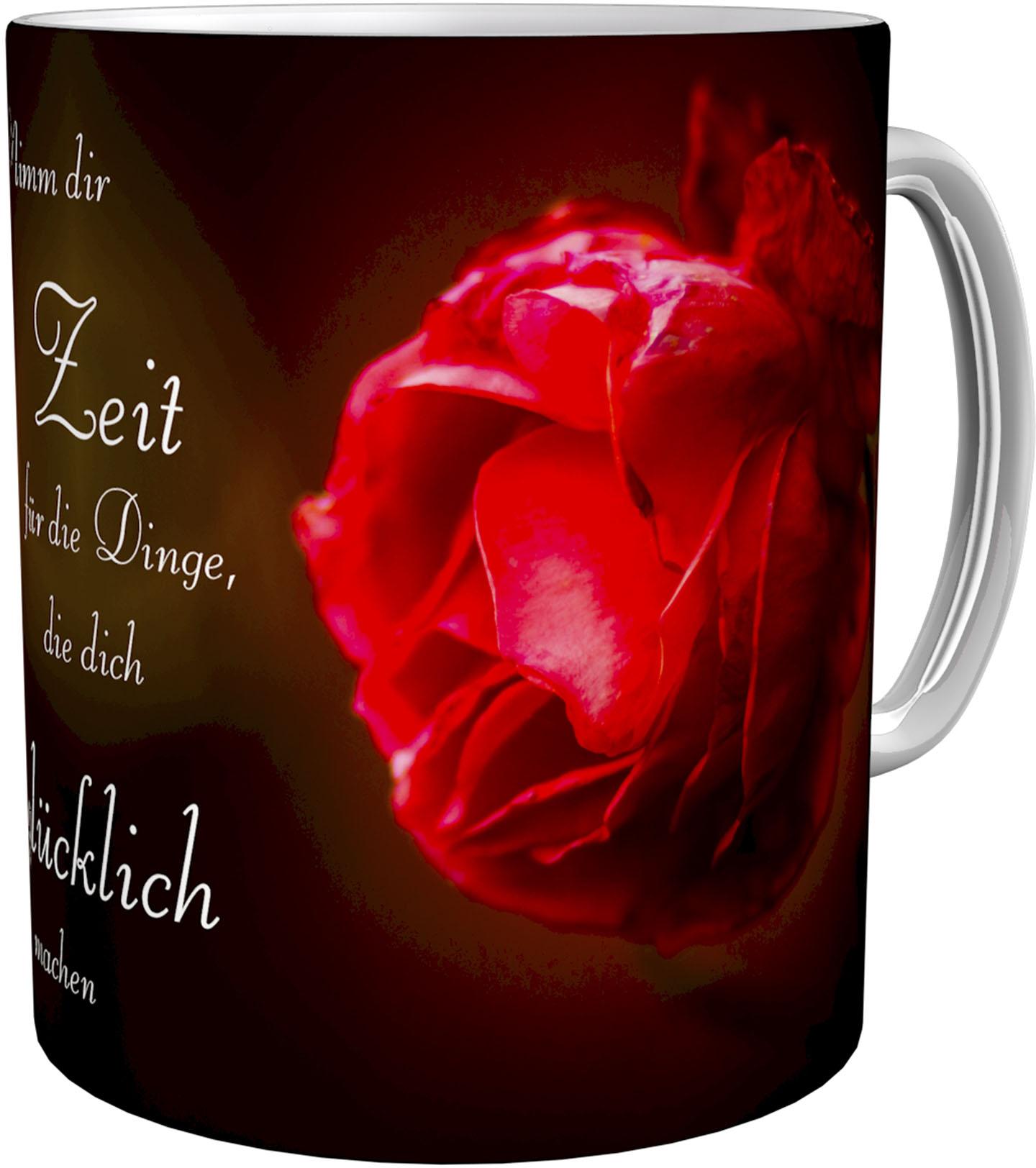 Kaffeetasse / Kaffeebecher / Rose / Geschenktasse
