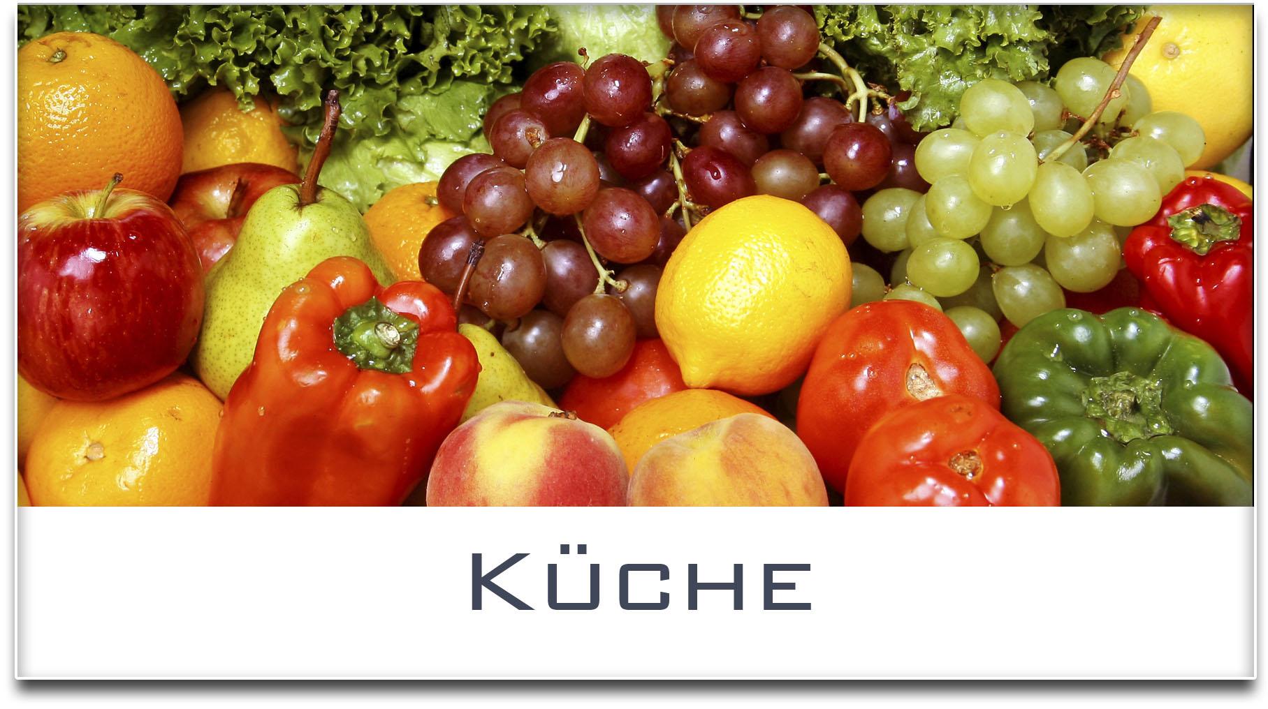 Türschild / Haustürschild / Gemüse / Küche / Selbstklebend