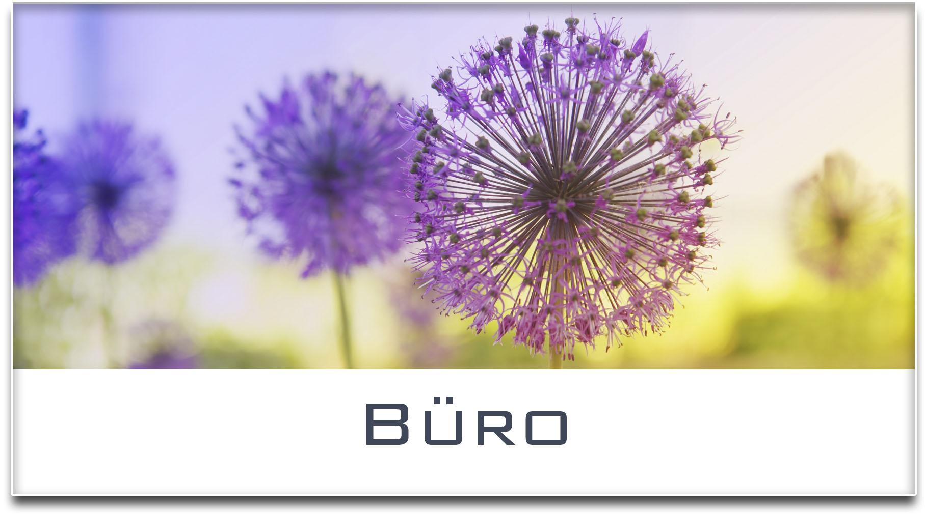 Türschild / Haustürschild / Blume / Büro / Selbstklebend