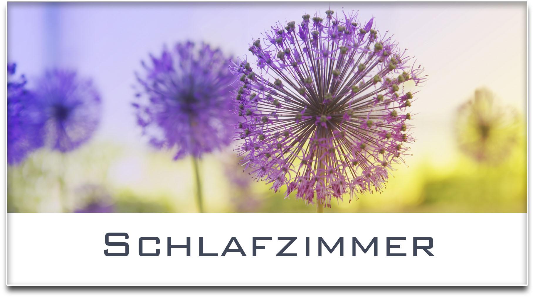 Türschild / Haustürschild / Blume / Schlafzimmer / Selbstklebend