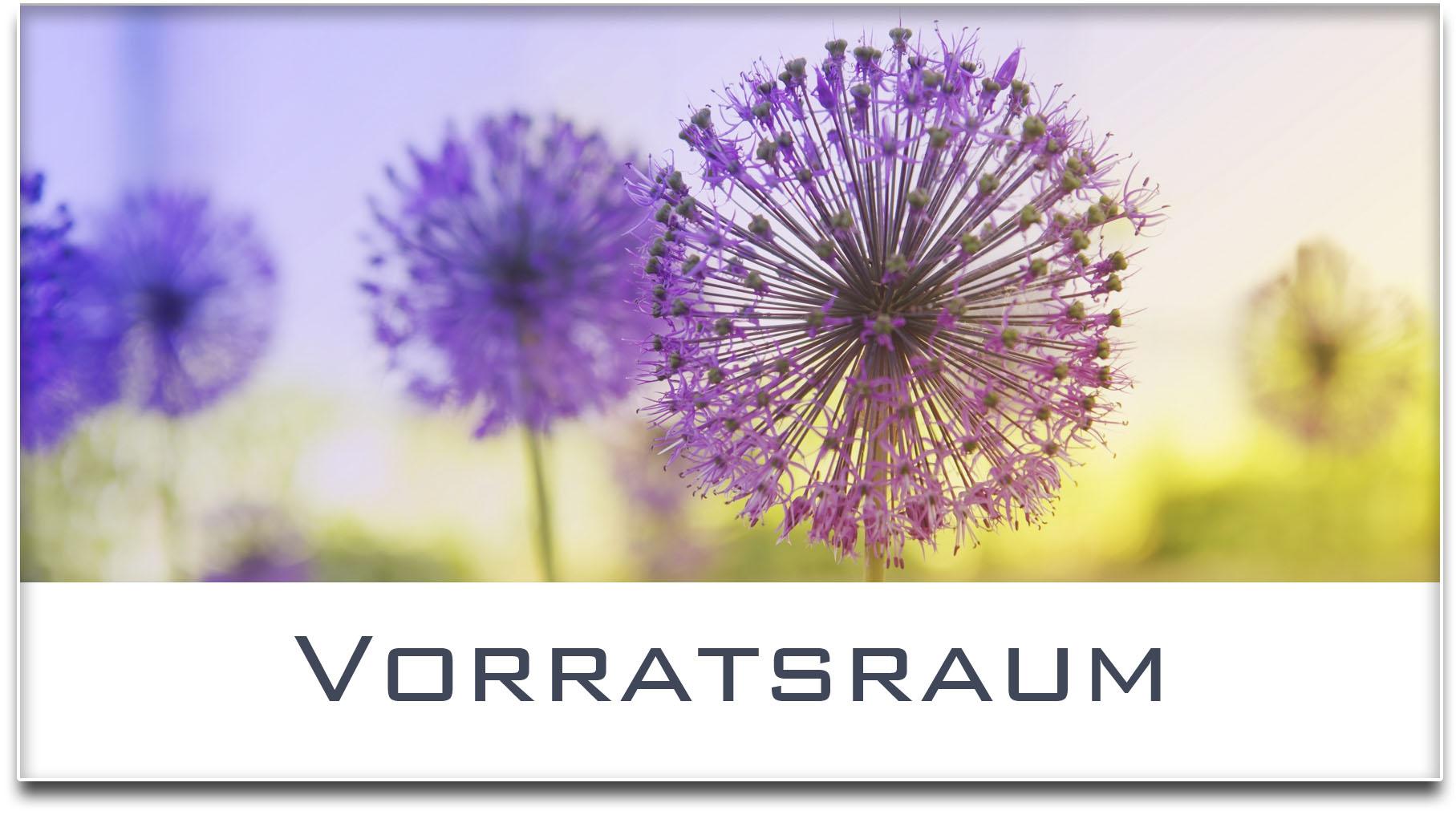 Türschild / Haustürschild / Blume / Vorratsraum / Selbstklebend