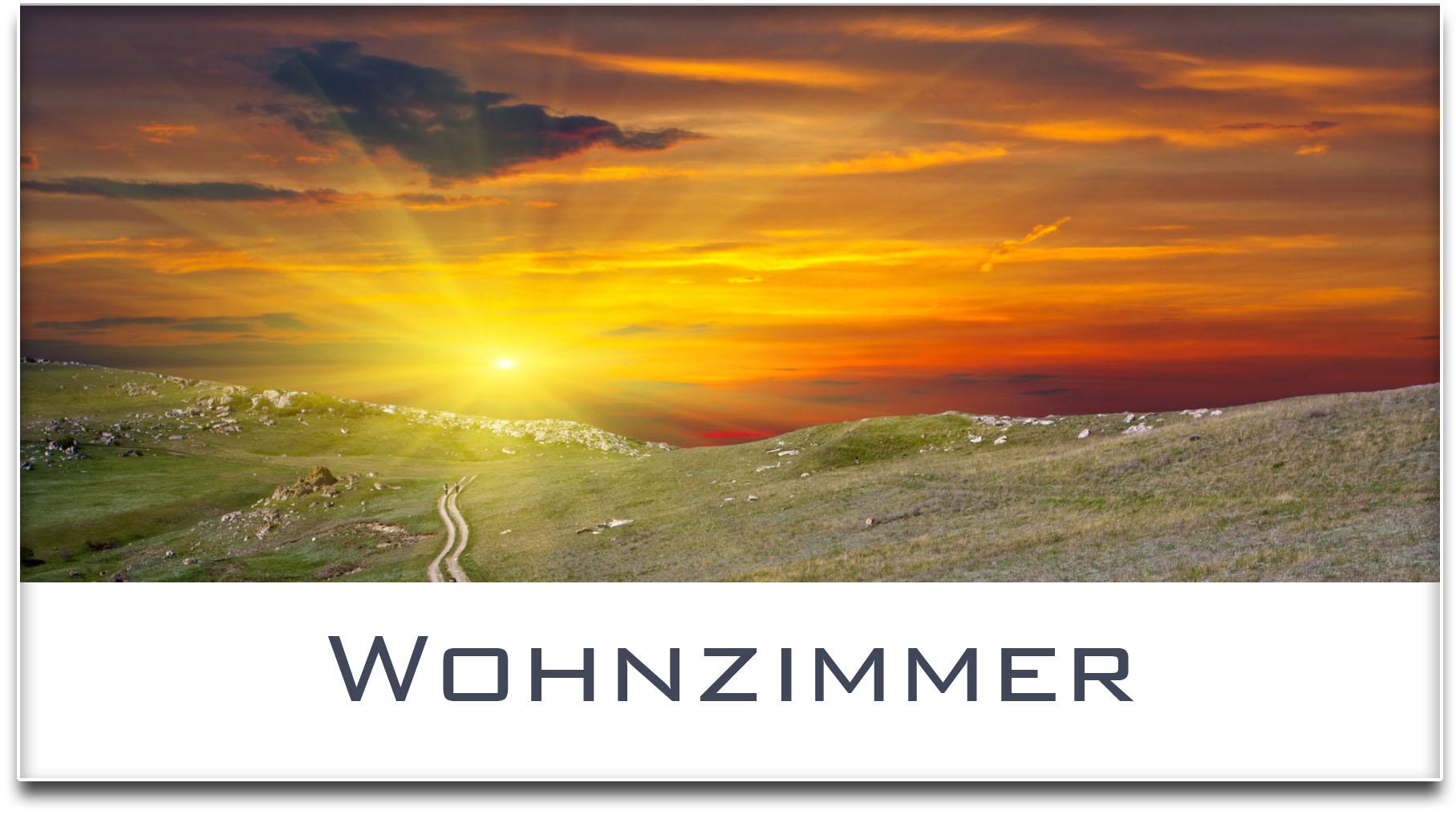 Türschild / Haustürschild / Sonnenuntergang / Wohnzimmer / Selbstklebend