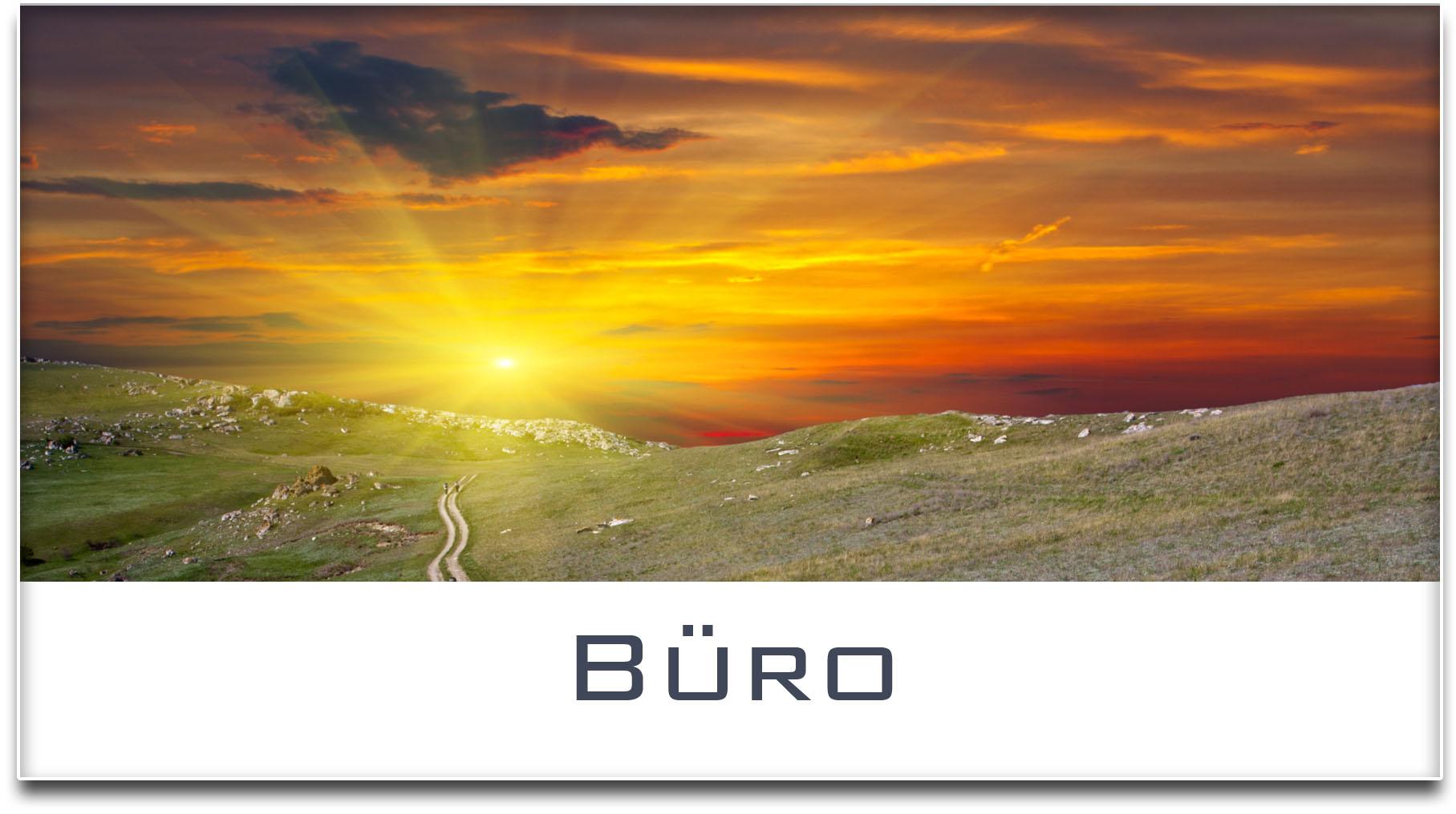 Türschild / Haustürschild / Sonnenuntergang / Büro / Selbstklebend