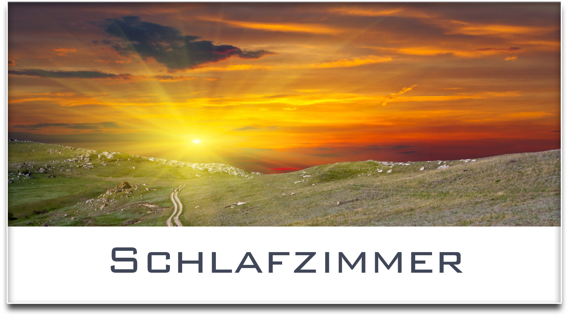 Türschild / Haustürschild / Sonnenuntergang / Schlafzimmer / Selbstklebend