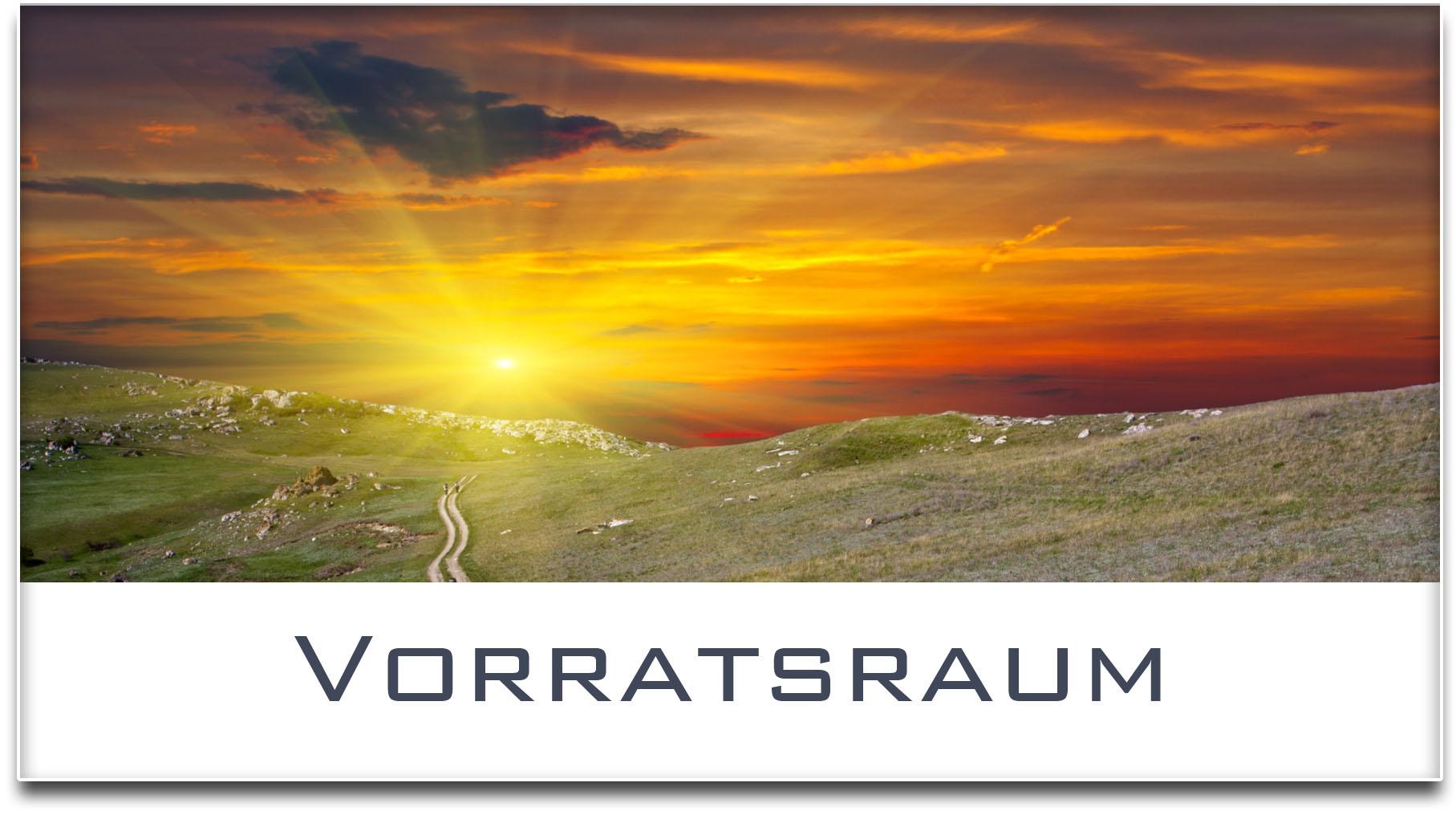 Türschild / Haustürschild / Sonnenuntergang / Vorratsraum / Selbstklebend