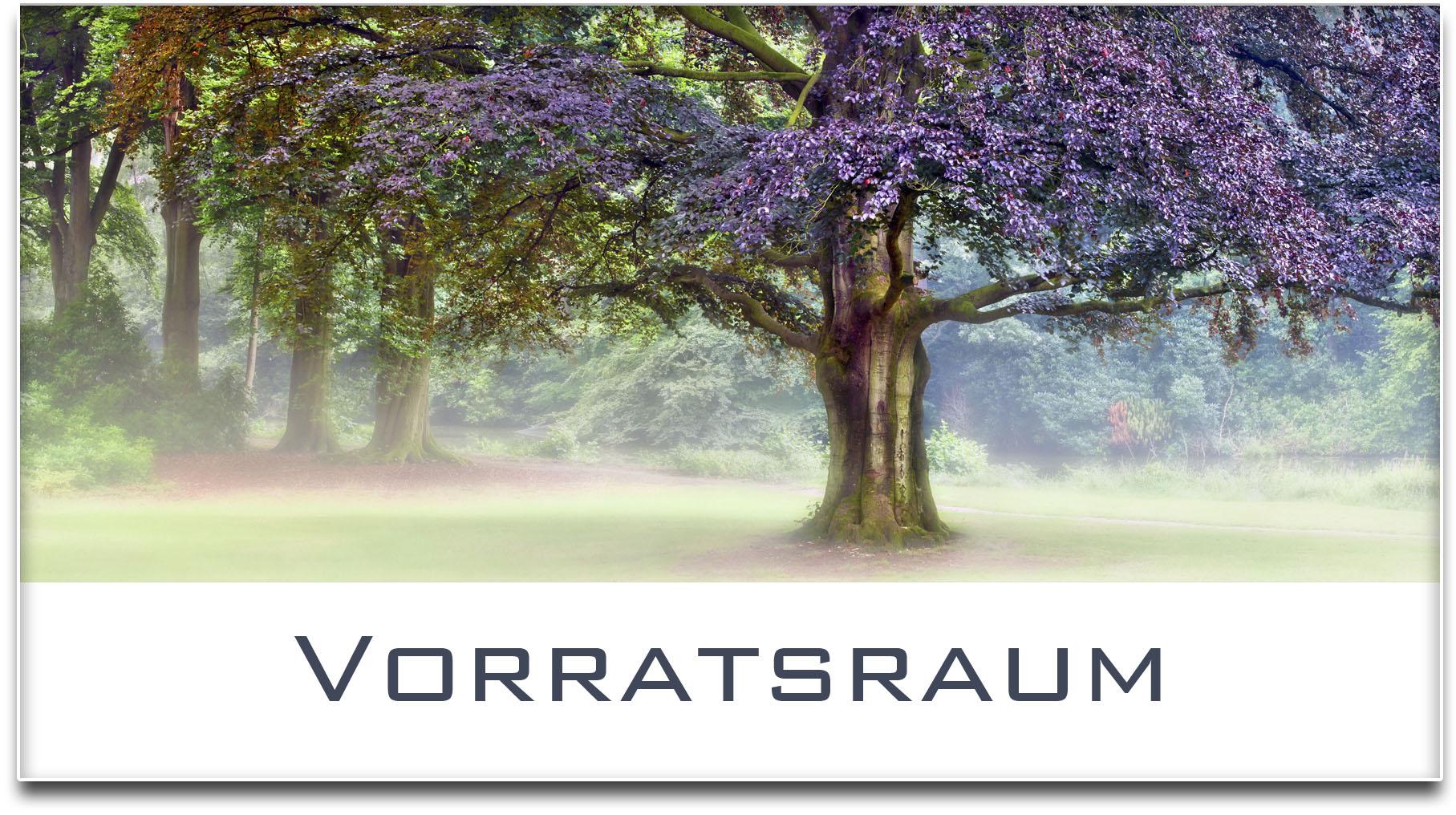 Türschild / Haustürschild / Blutbuche / Baum / Vorratsraum / Selbstklebend