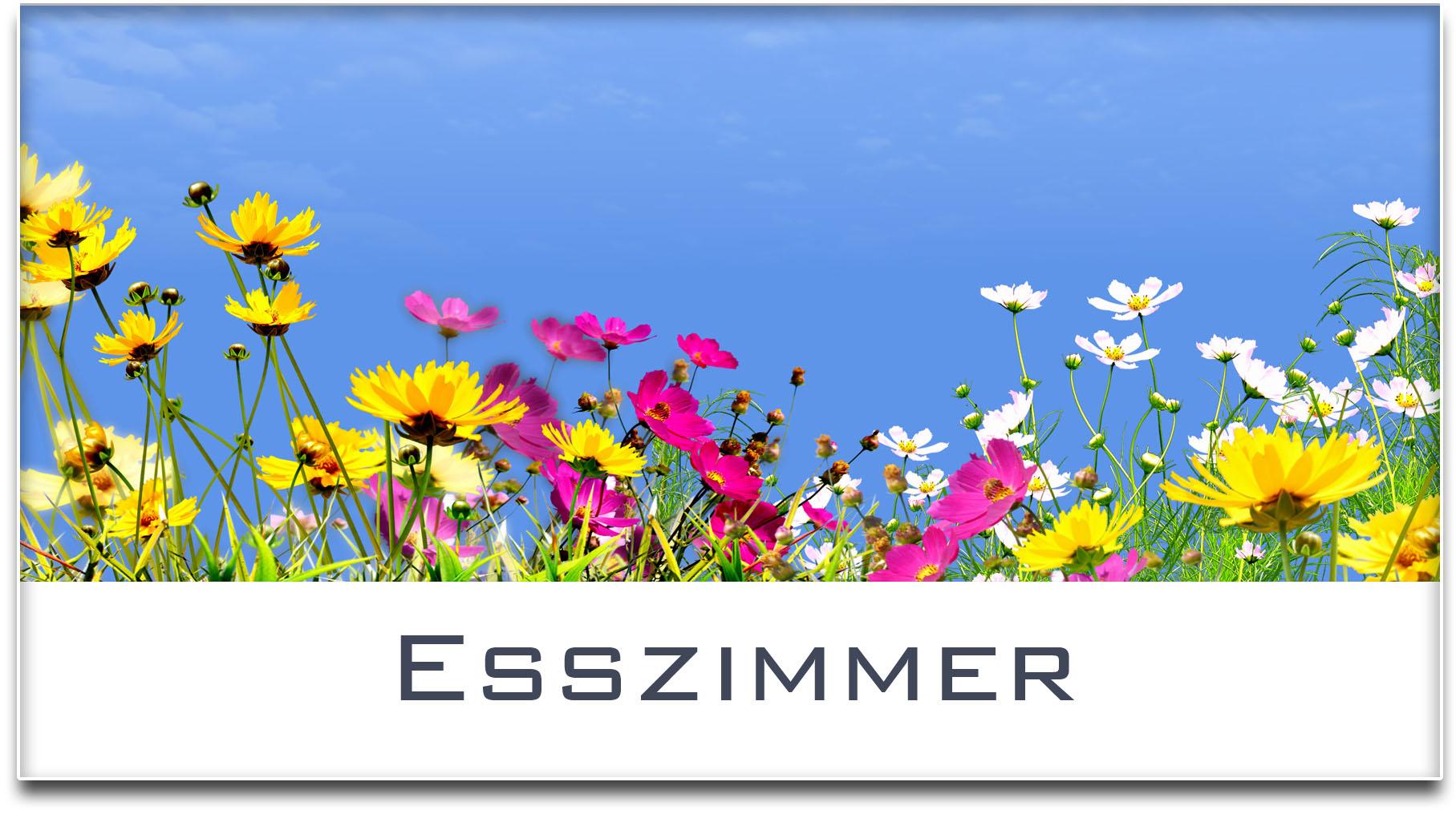 Türschild / Haustürschild / Blumenwiese / Esszimmer / Selbstklebend