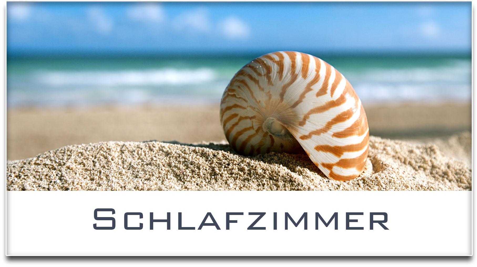 Türschild / Haustürschild / Muschel / Strand / Schlafzimmer / Selbstklebend