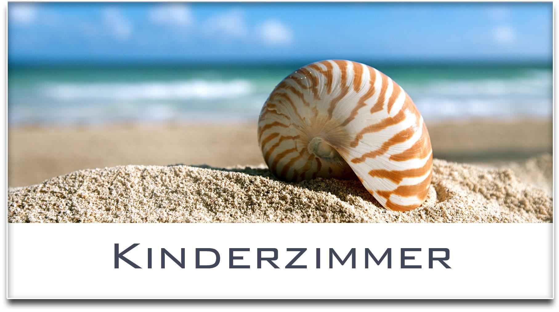 Türschild / Haustürschild / Muschel / Strand / Kinderzimmer / Selbstklebend