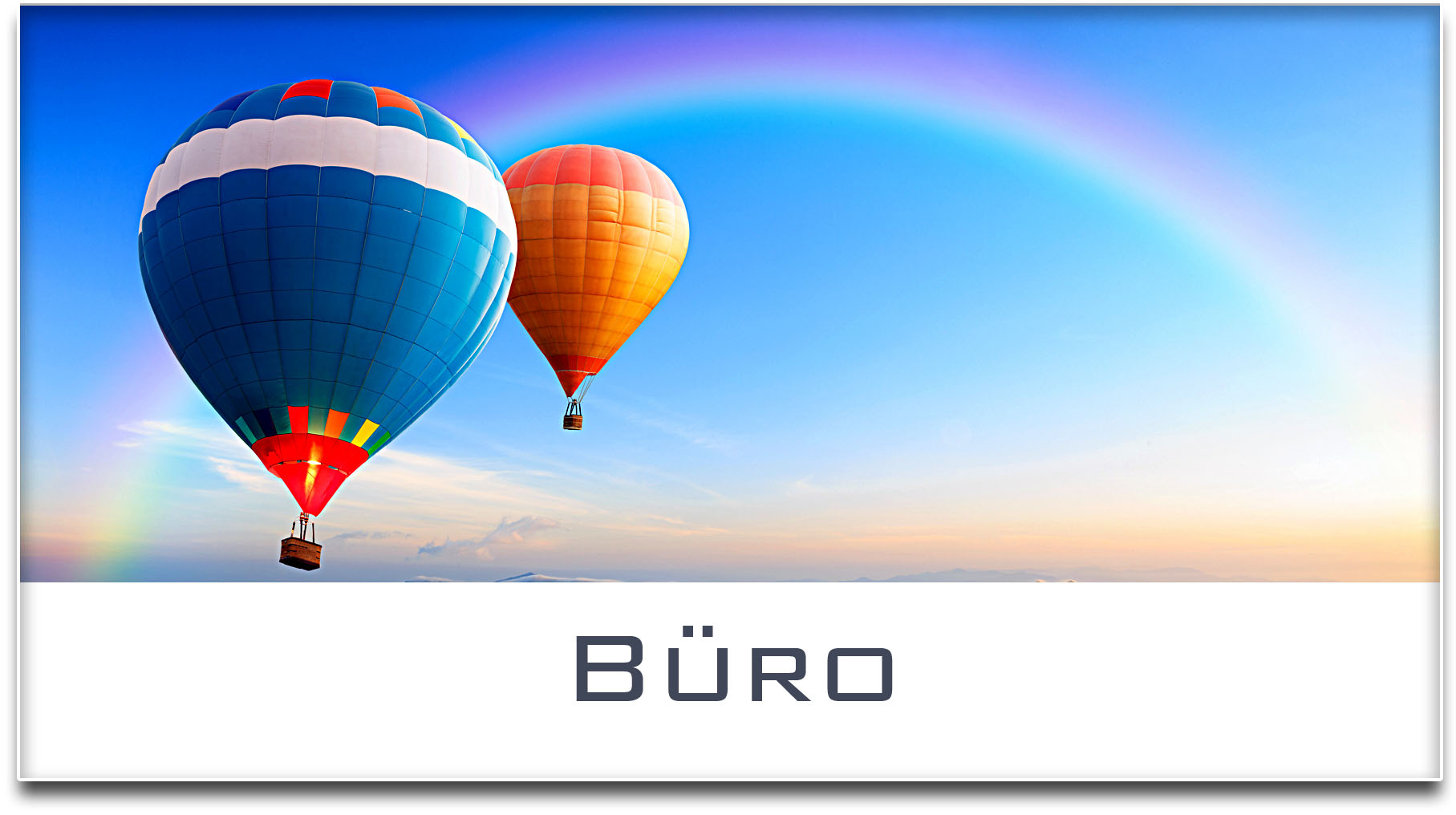 Türschild / Haustürschild / Heissluftballons / Büro / Selbstklebend