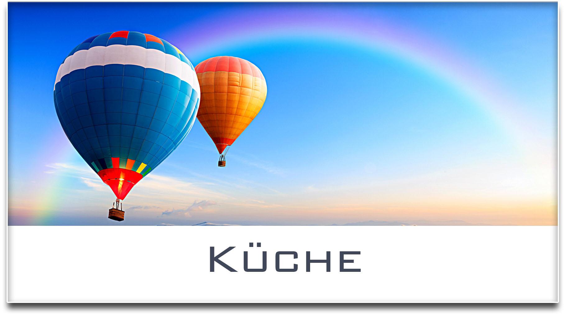 Türschild / Haustürschild / Heissluftballons / Küche / Selbstklebend