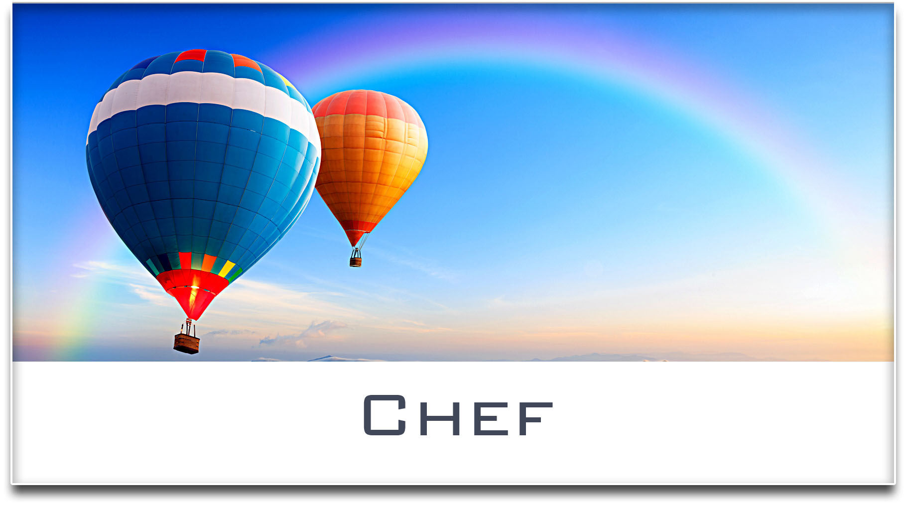 Türschild / Haustürschild / Heissluftballons / Chef / Selbstklebend