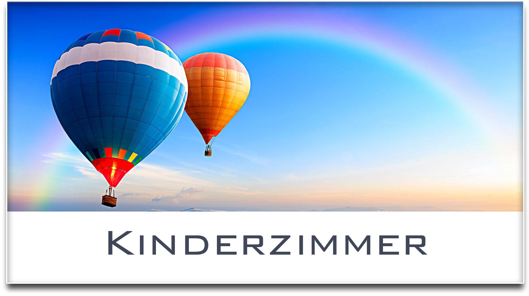 Türschild / Haustürschild / Heissluftballons / Kinderzimmer / Selbstklebend