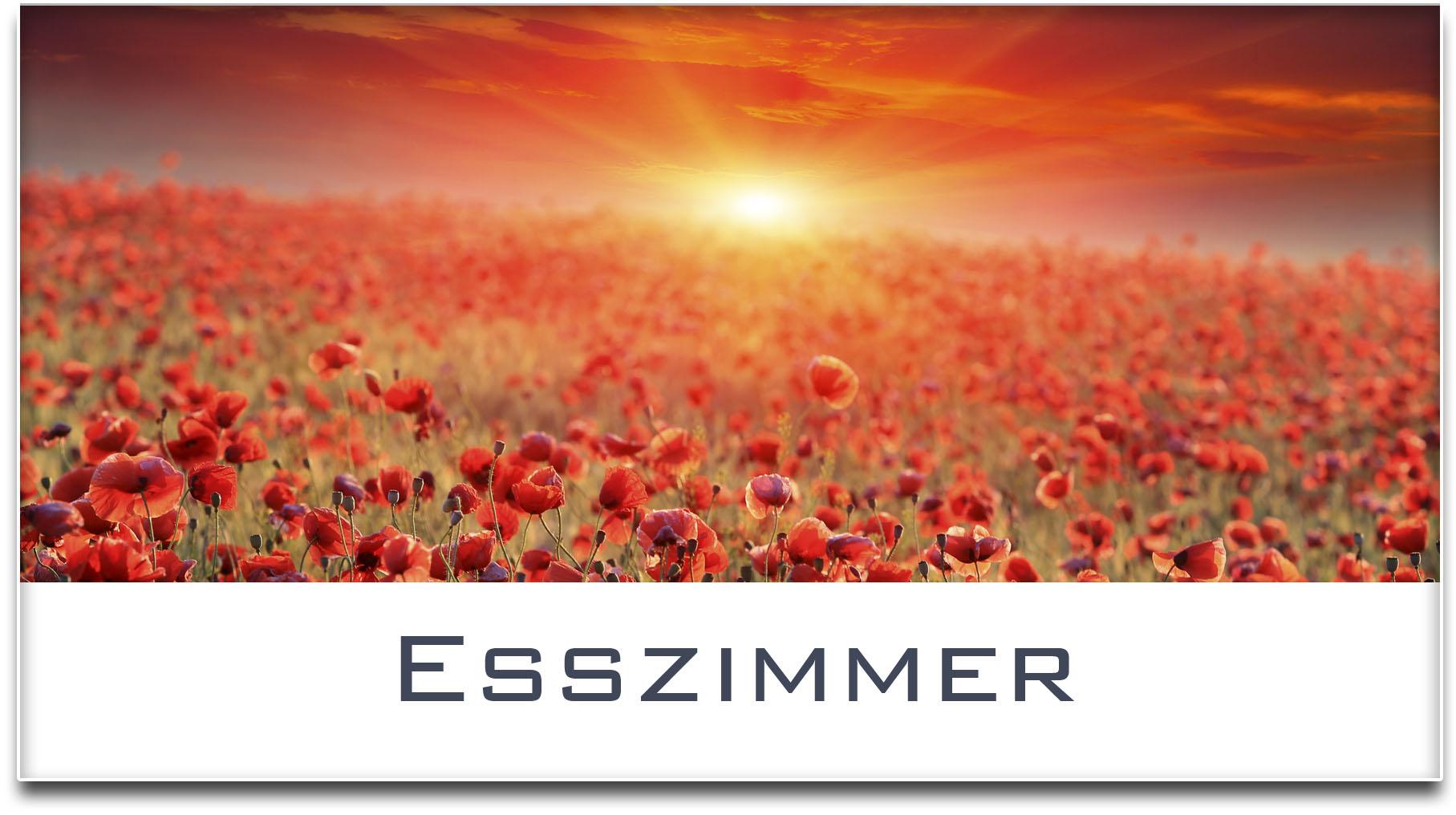 Türschild / Mohnfeld / Sonnenuntergang / Esszimmer / Selbstklebend