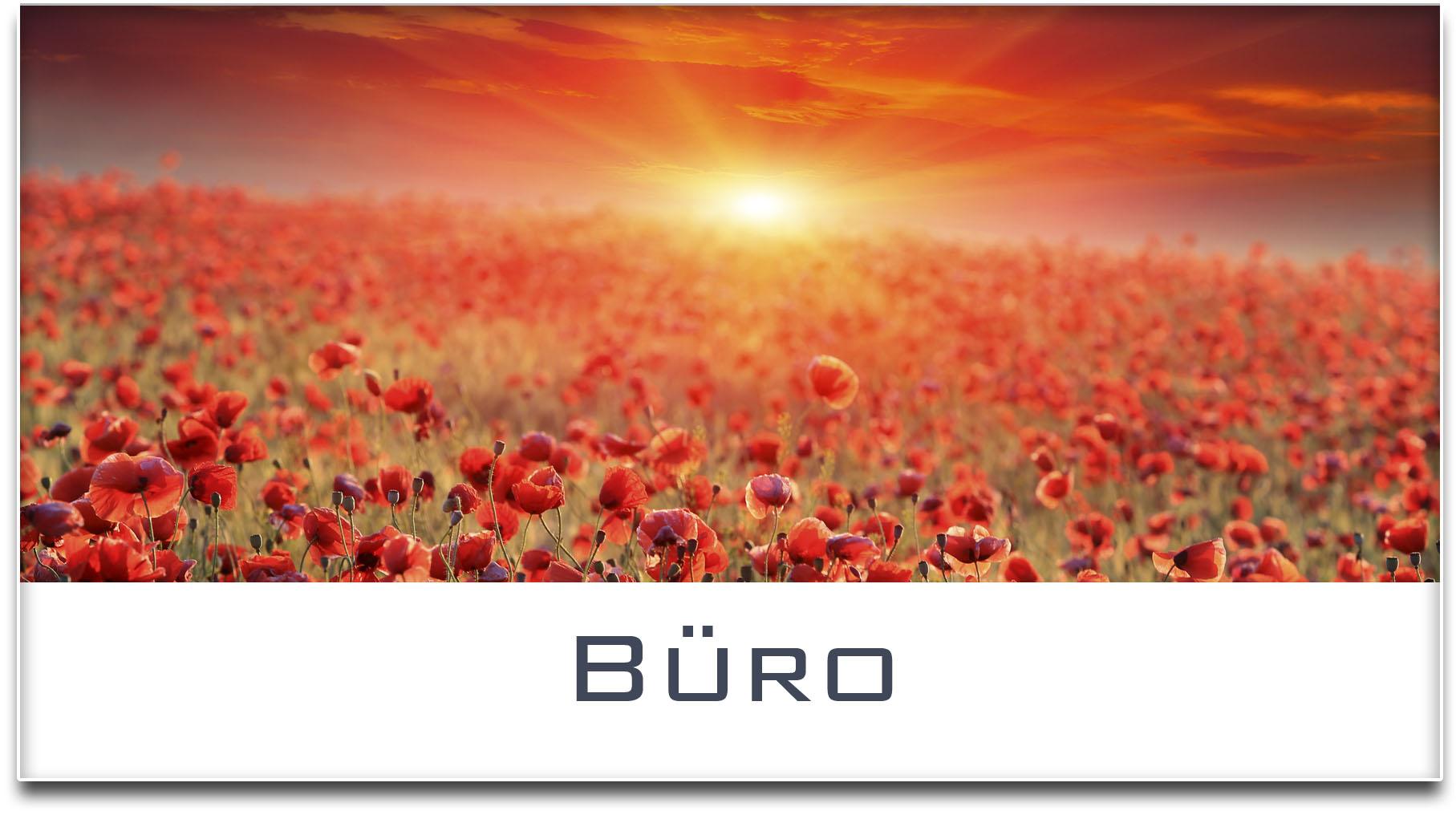 Türschild / Haustürschild / Mohnfeld / Sonnenuntergang / Büro / Selbstklebend