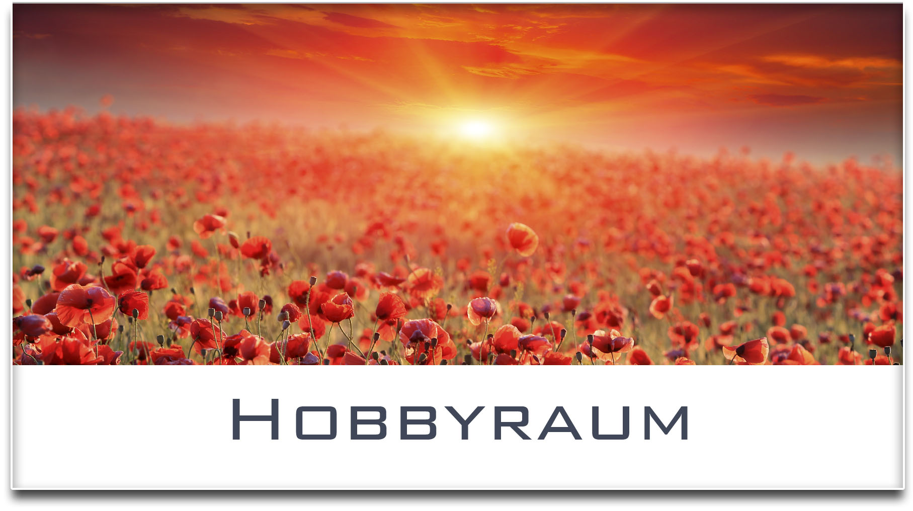 Türschild / Mohnfeld / Sonnenuntergang / Hobbyraum / Selbstklebend