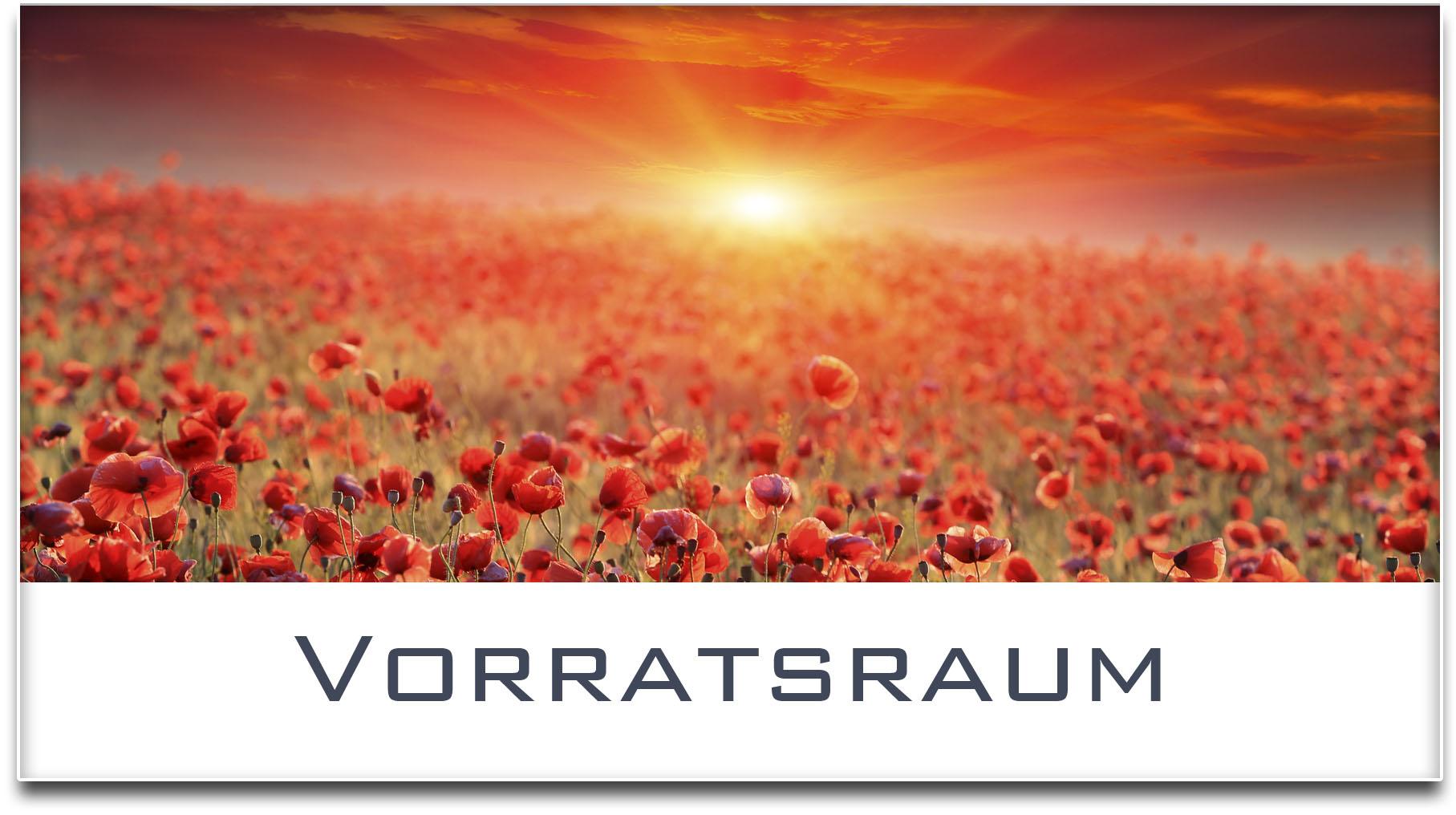 Türschild / Mohnfeld / Sonnenuntergang / Vorratsraum / Selbstklebend