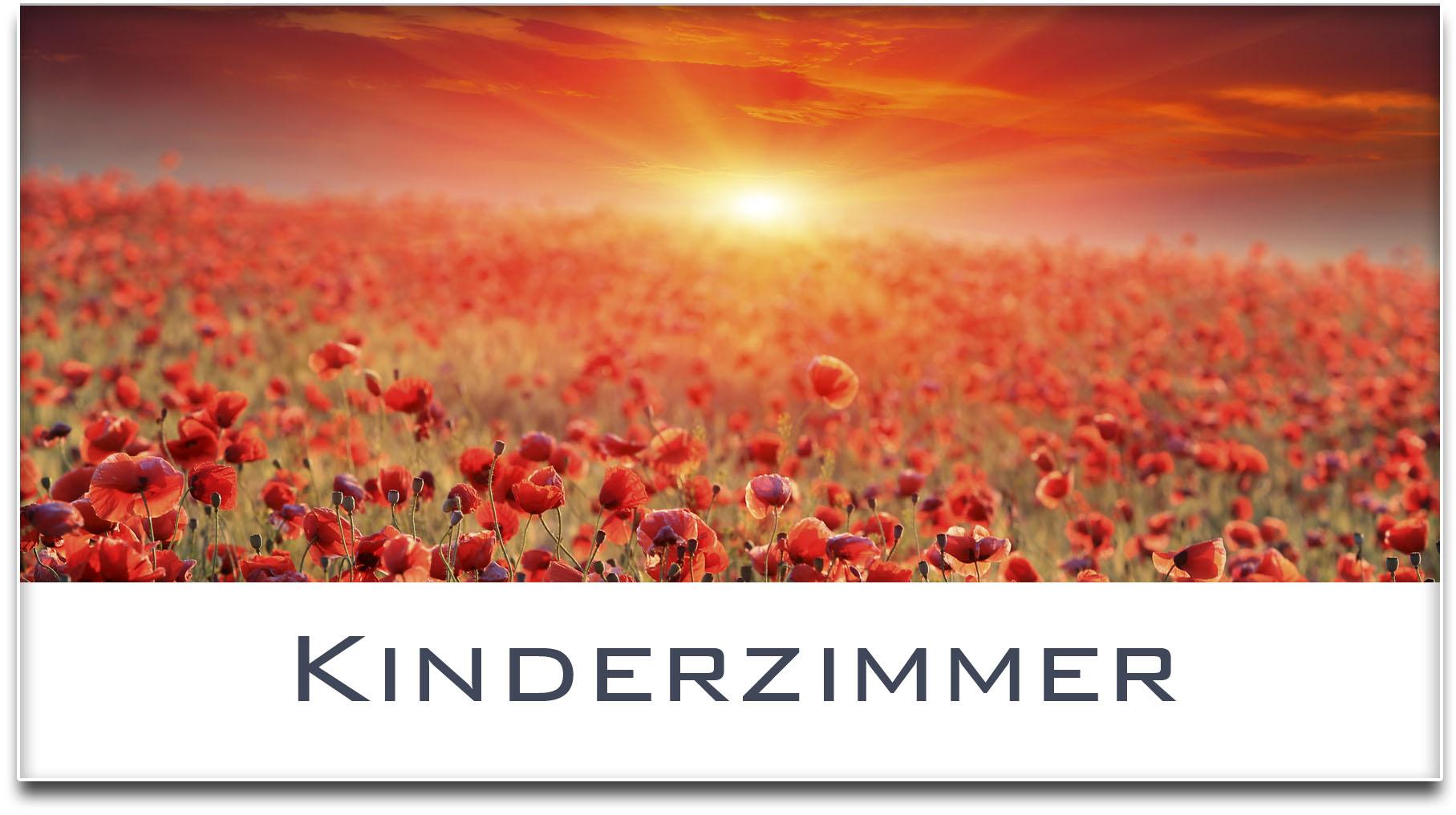 Türschild / Mohnfeld / Sonnenuntergang / Kinderzimmer / Selbstklebend