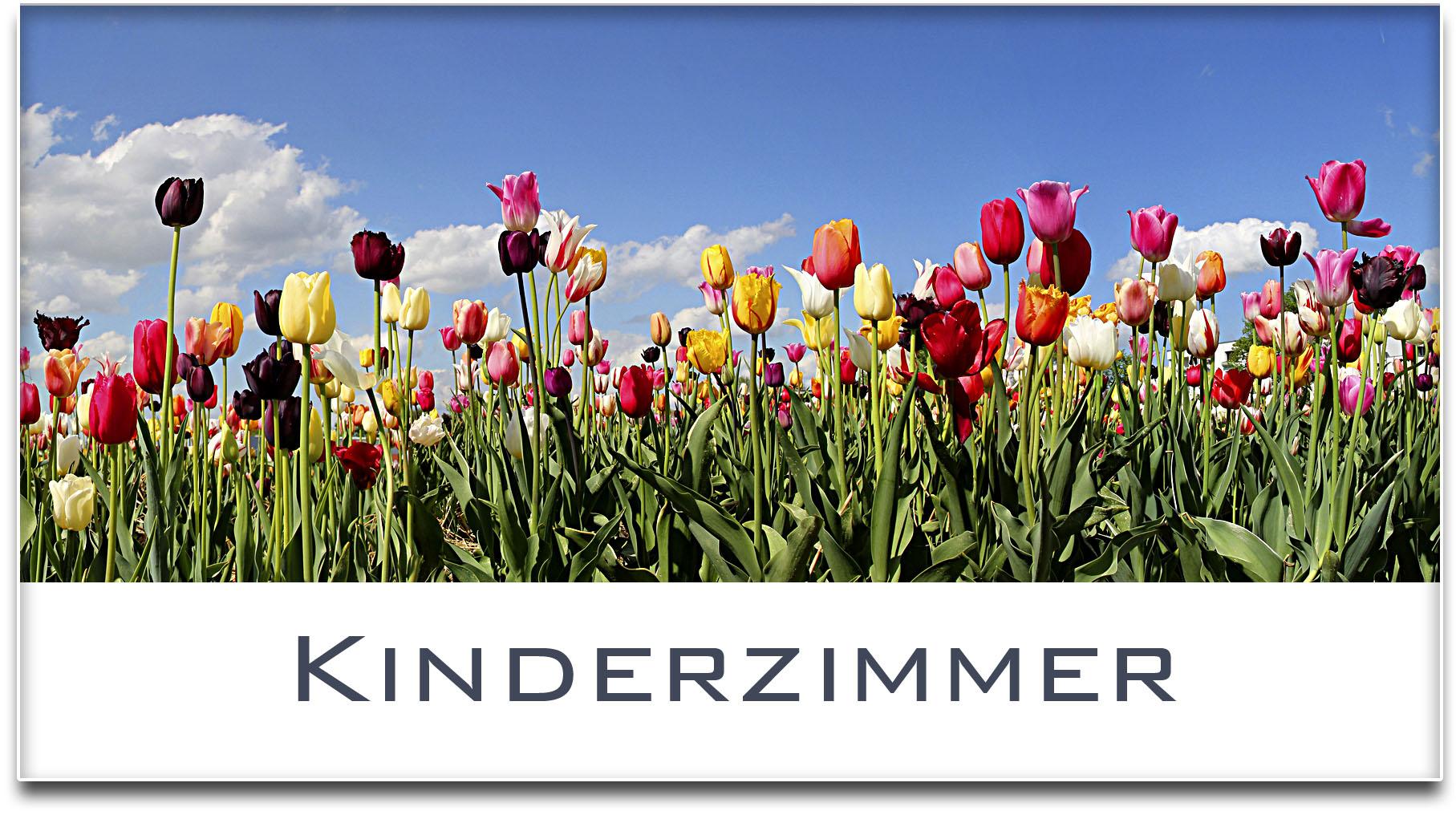 Türschild / Haustürschild / Tulpenfeld / Kinderzimmer / Selbstklebend