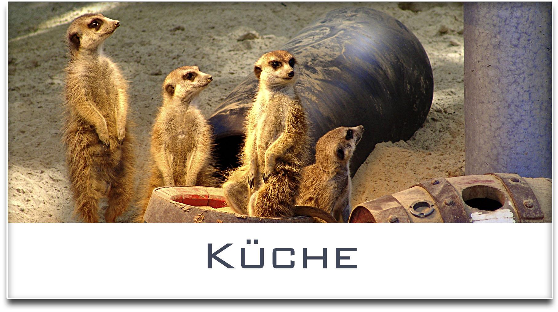 Türschild / Haustürschild / Erdmännchen / Küche / Selbstklebend