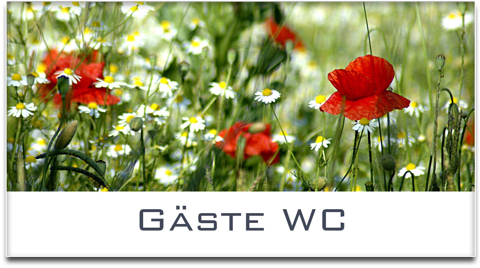 Türschild / Haustürschild / Blumenwiese / Gäste WC / Selbstklebend