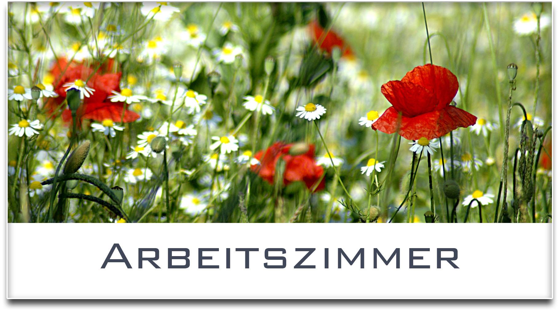 Türschild / Haustürschild / Blumenwiese / Arbeitszimmer / Selbstklebend