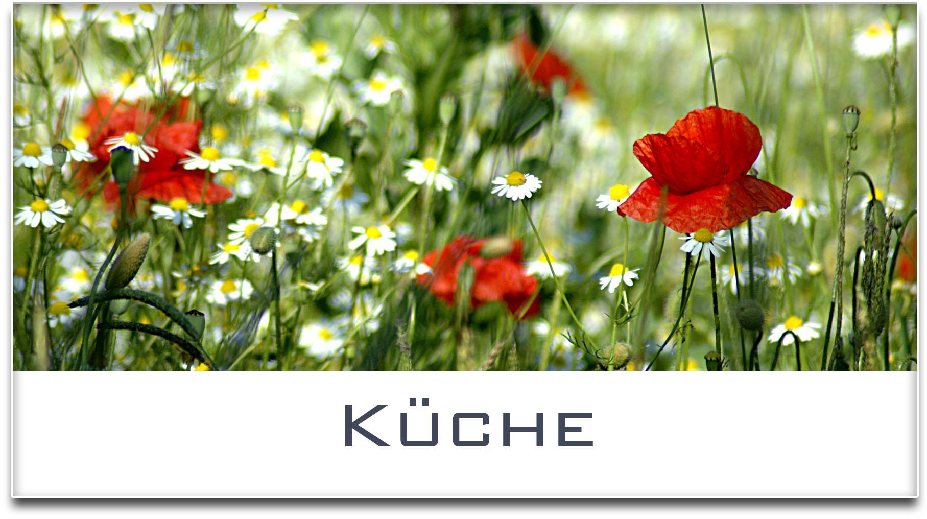 Türschild / Haustürschild / Blumenwiese / Küche / Selbstklebend