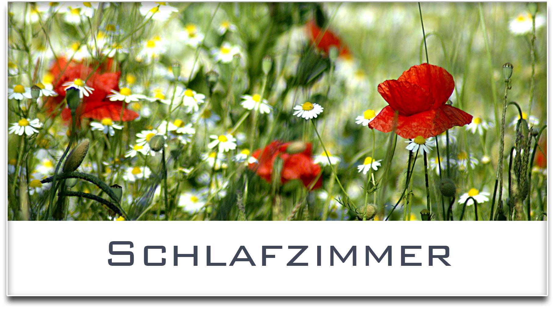 Türschild / Haustürschild / Blumenwiese / Schlafzimmer / Selbstklebend