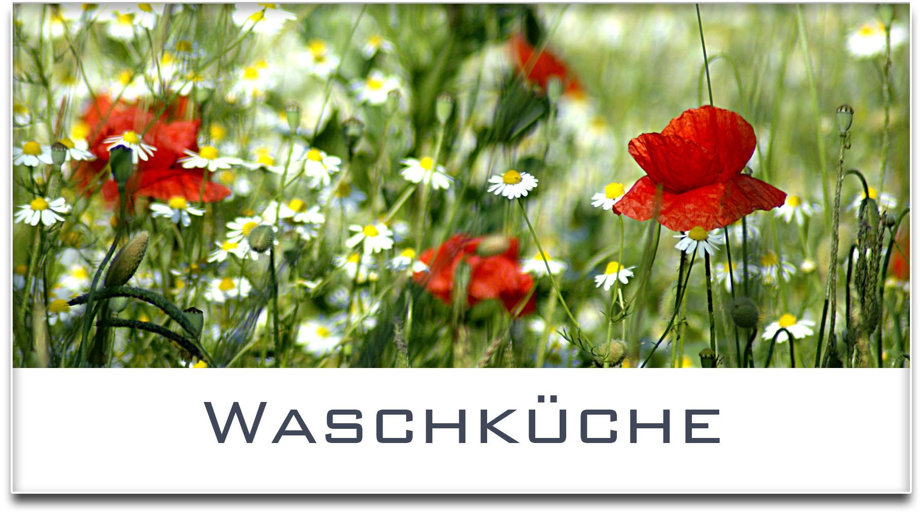 Türschild / Haustürschild / Blumenwiese / Waschküche / Selbstklebend
