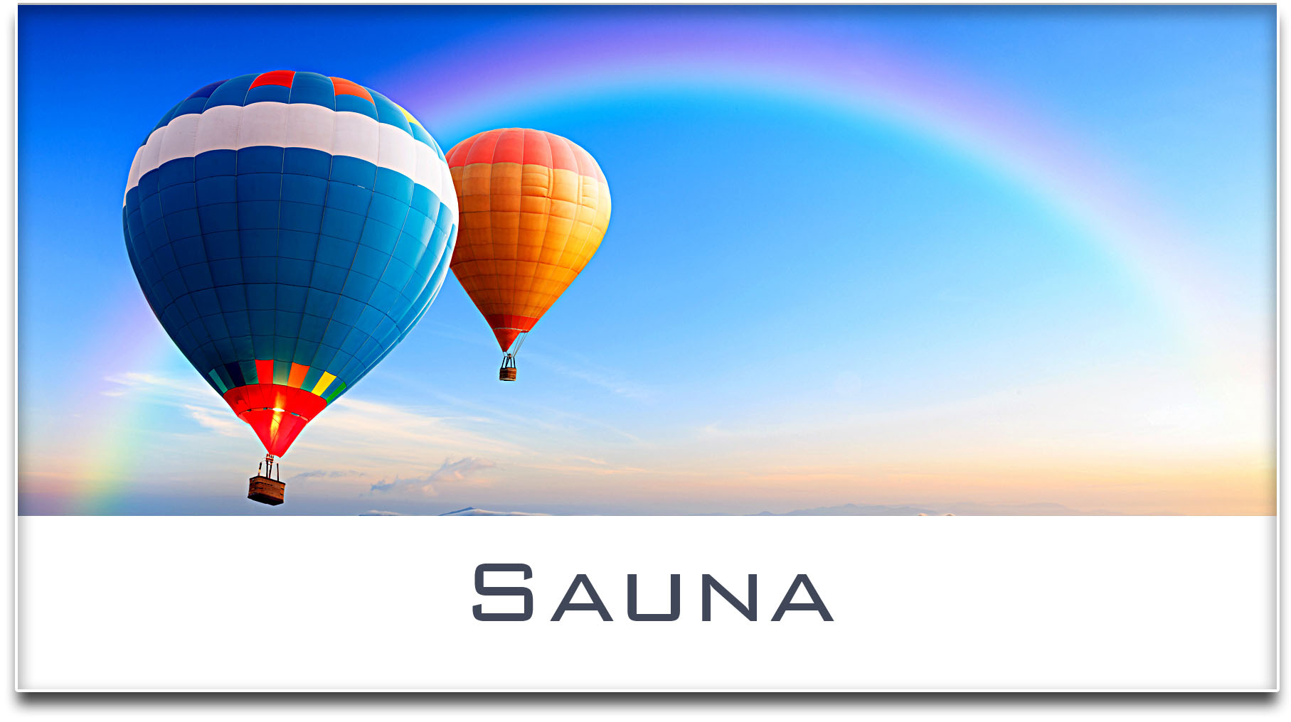 Türschild / Haustürschild / Heissluftballons / Sauna / Selbstklebend