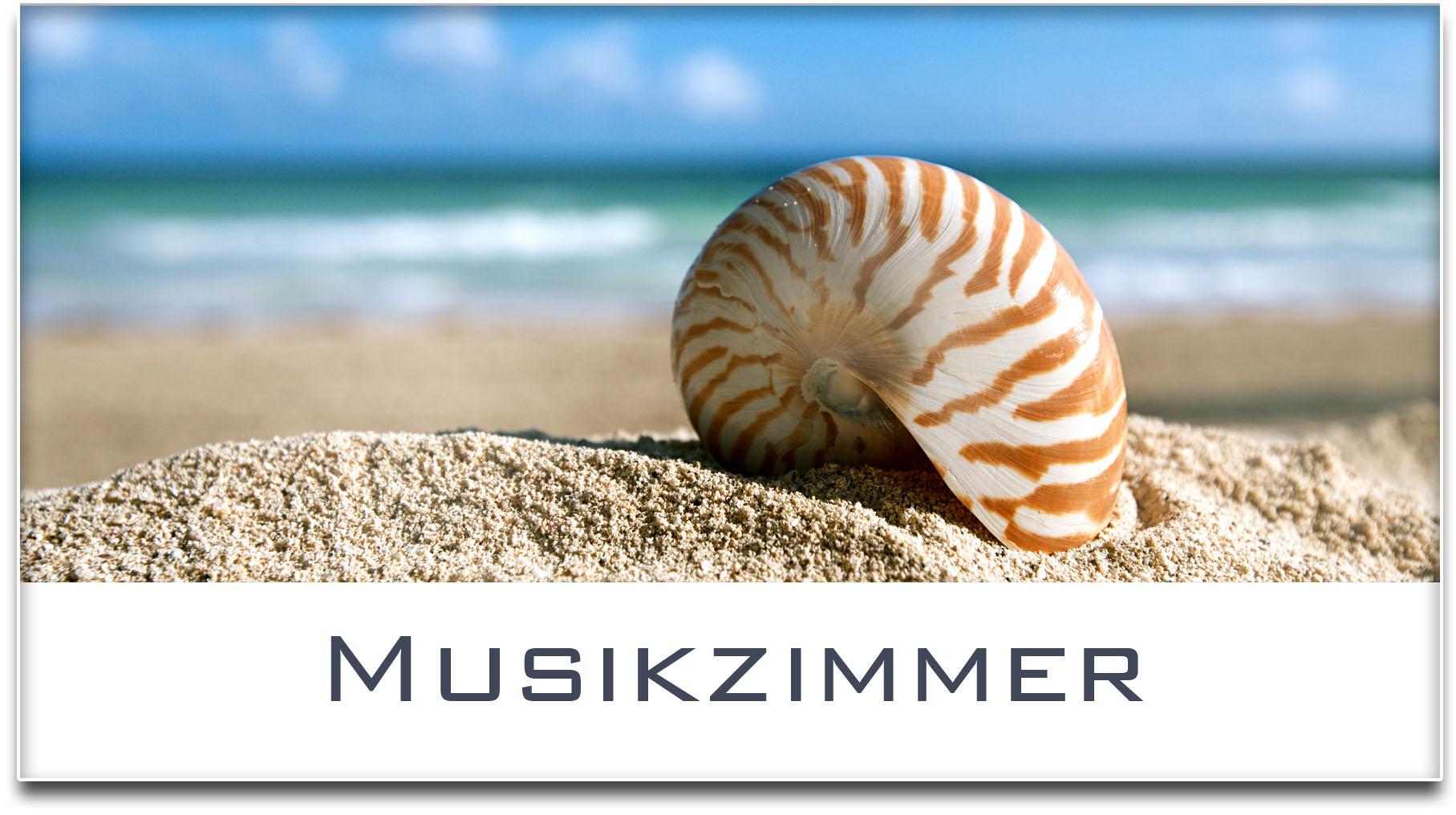 Türschild / Haustürschild / Muschel / Strand / Musikzimmer / Selbstklebend