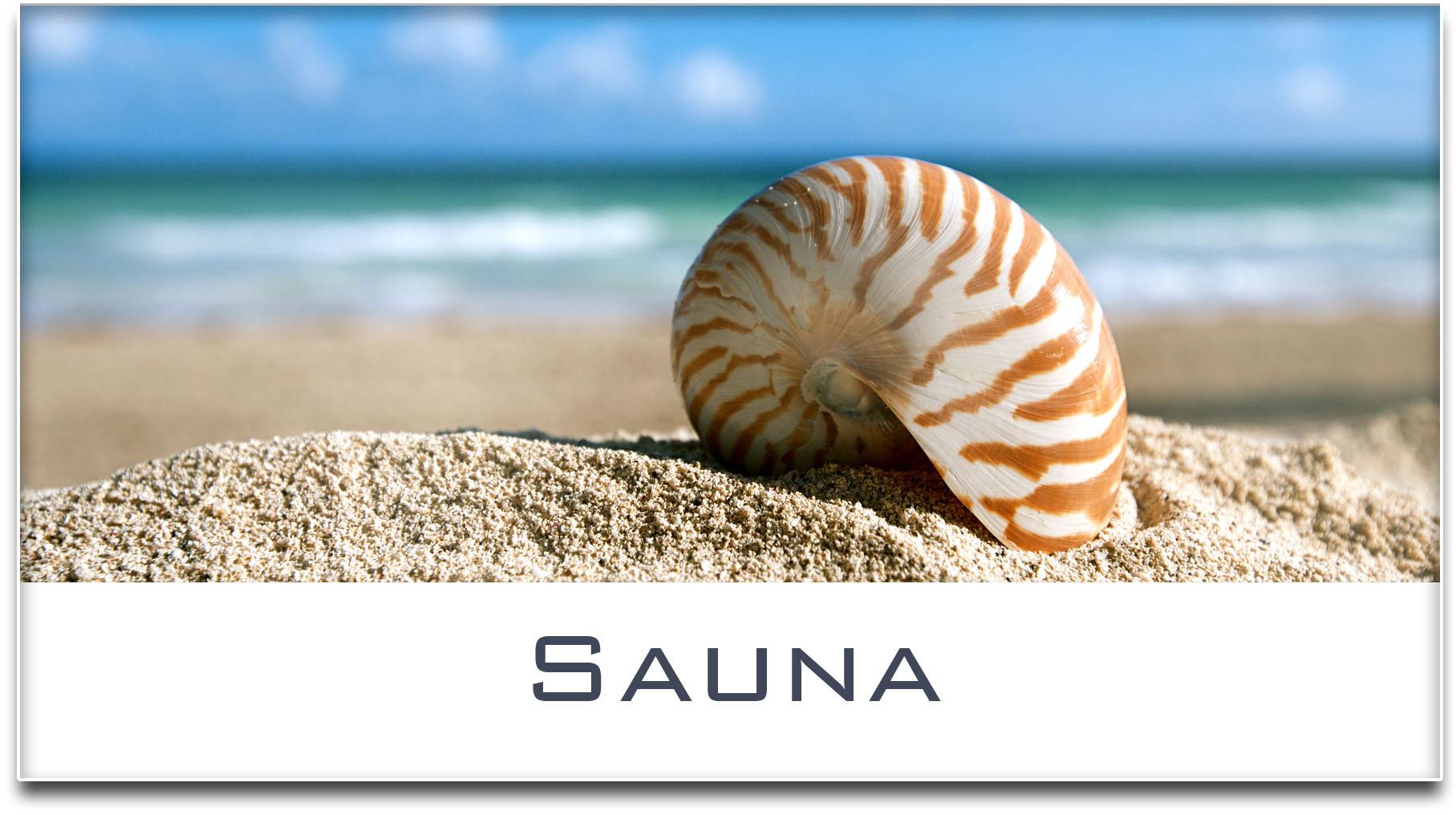 Türschild / Haustürschild / Muschel / Strand / Sauna / Selbstklebend