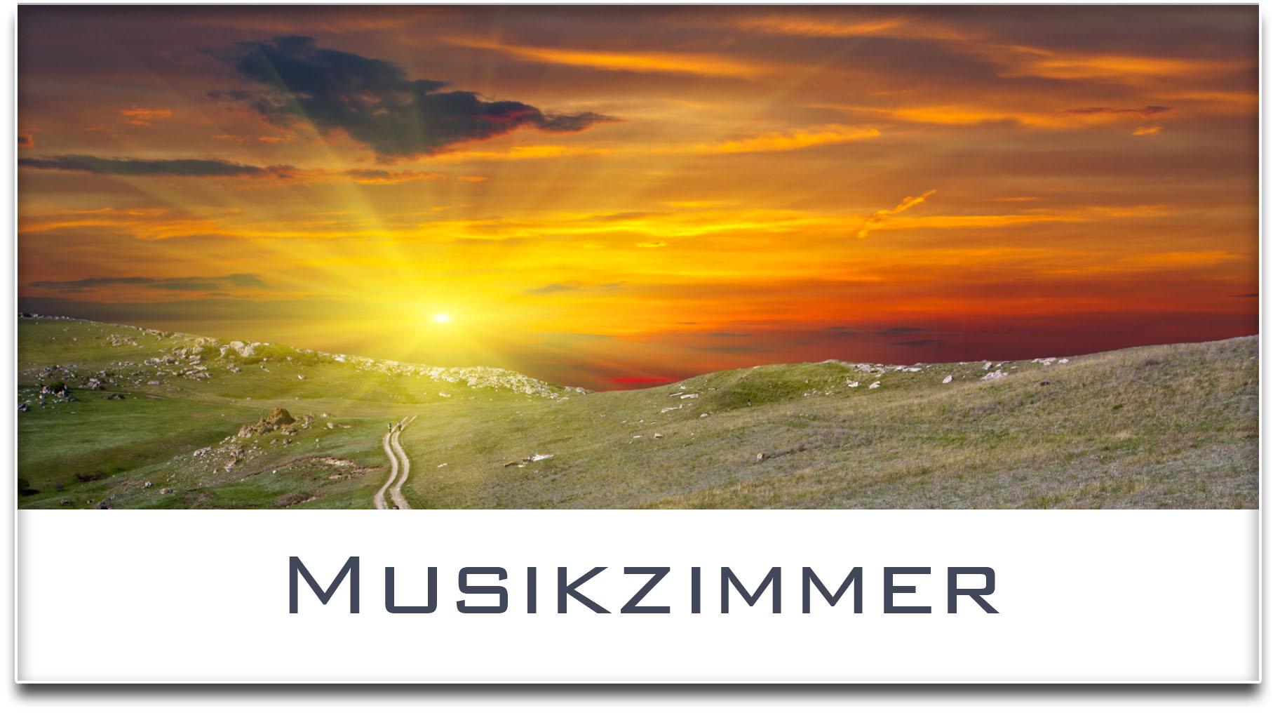 Türschild / Haustürschild / Sonnenuntergang / Musikzimmer / Selbstklebend