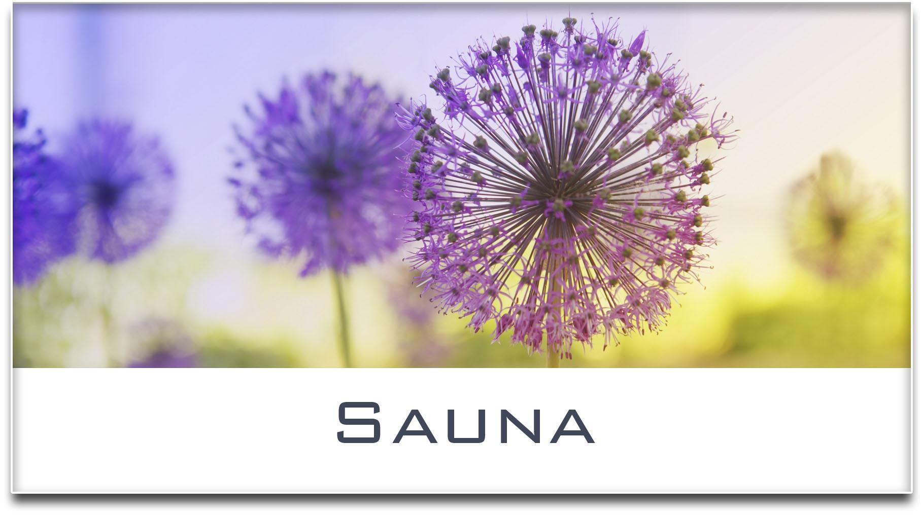 Türschild / Haustürschild / Blume / Sauna / Selbstklebend