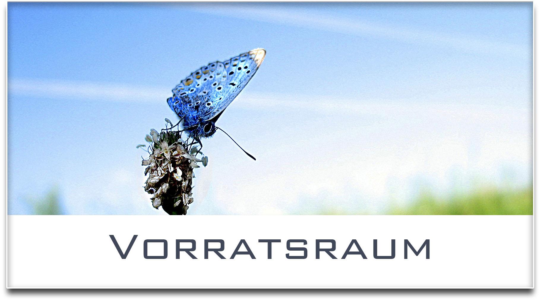 Türschild / Haustürschild / Schmetterling / Vorratsraum / Selbstklebend