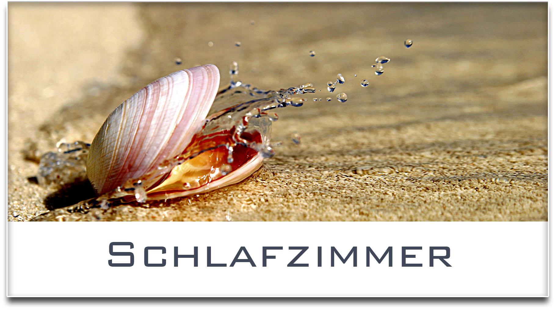 Türschild / Haustürschild / Muschel / Schlafzimmer / Selbstklebend